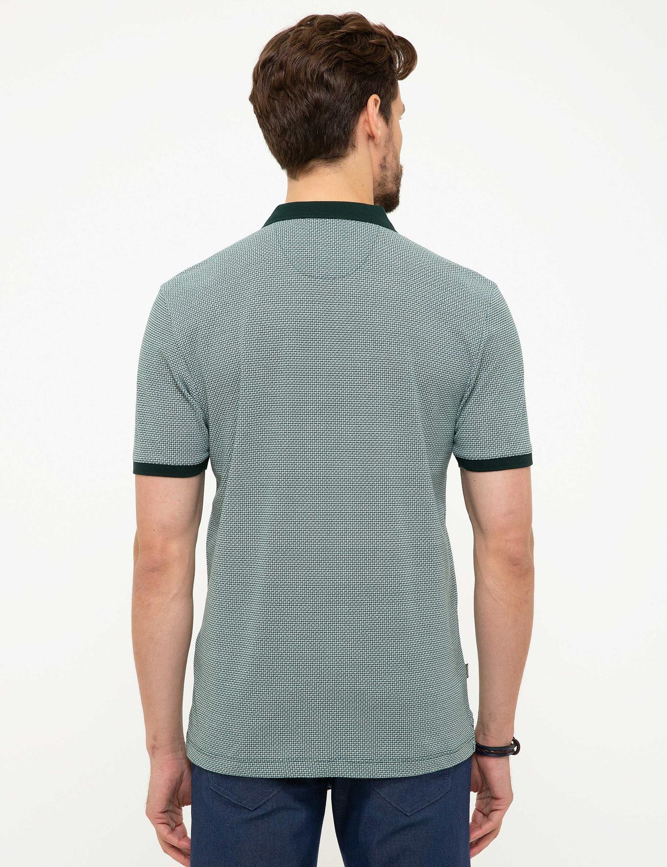 Koyu Yeşil Regular Fit Polo Yaka T-Shirt