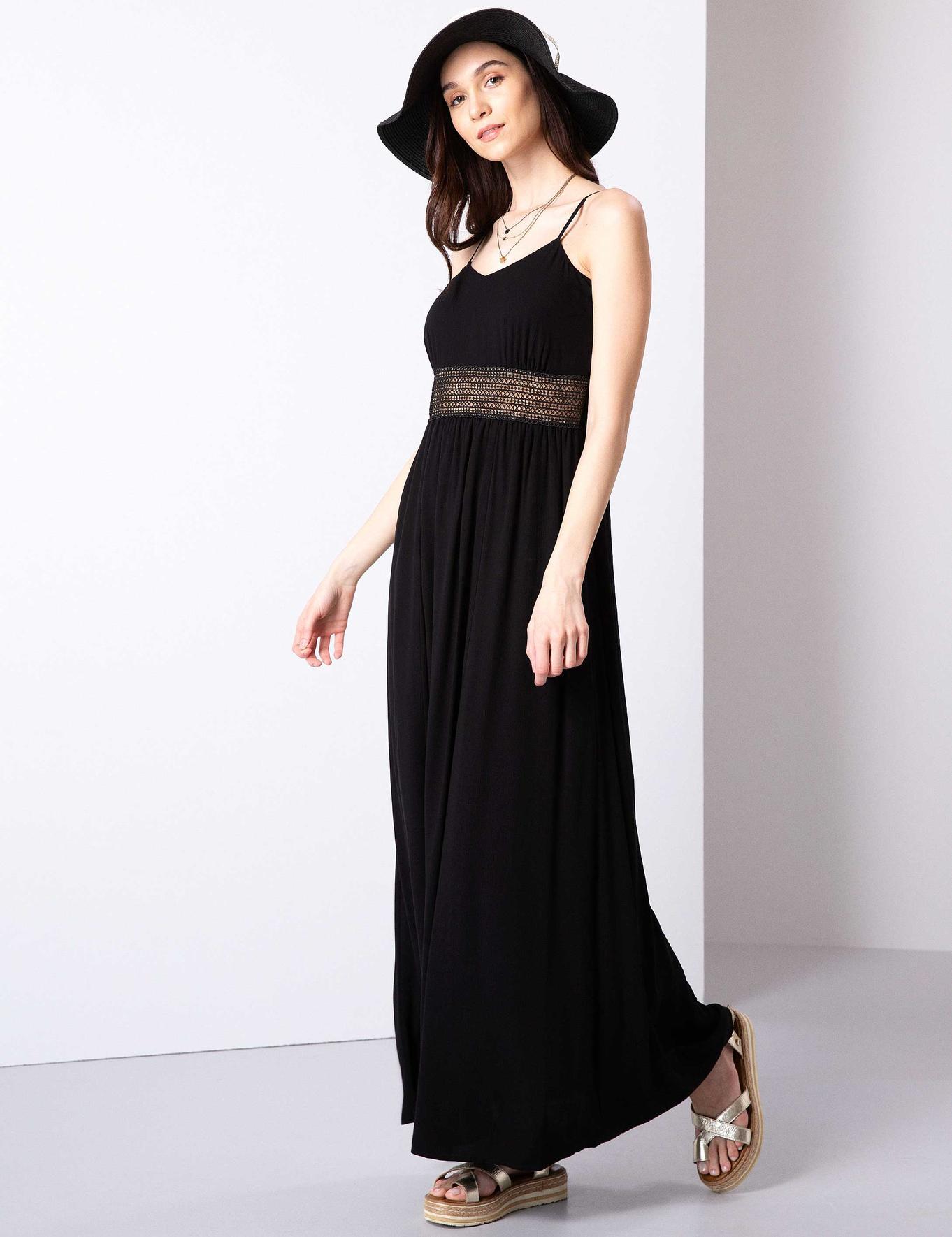 Siyah Dokuma Elbise