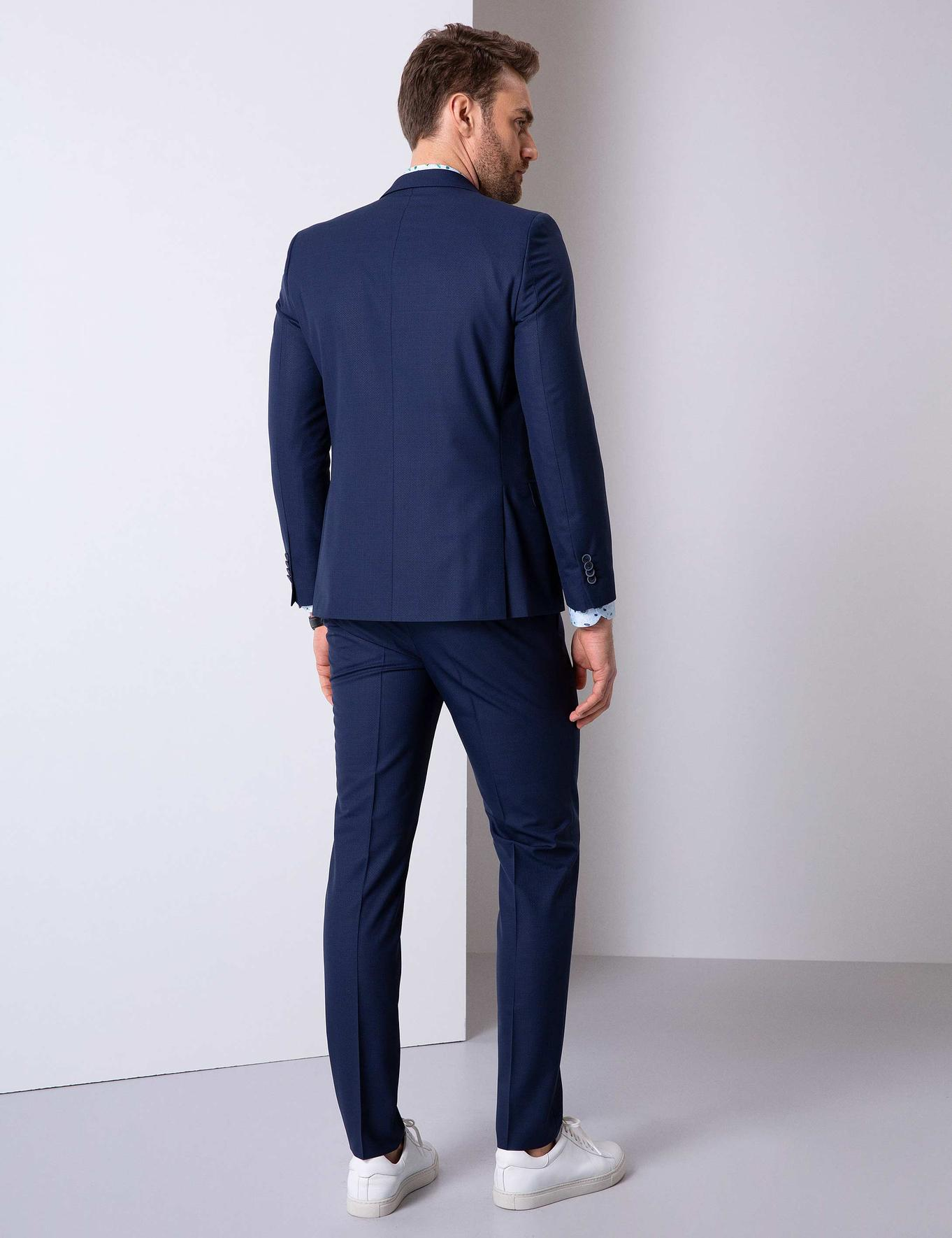 Açık Lacivert Ekstra Slim Fit Takım Elbise