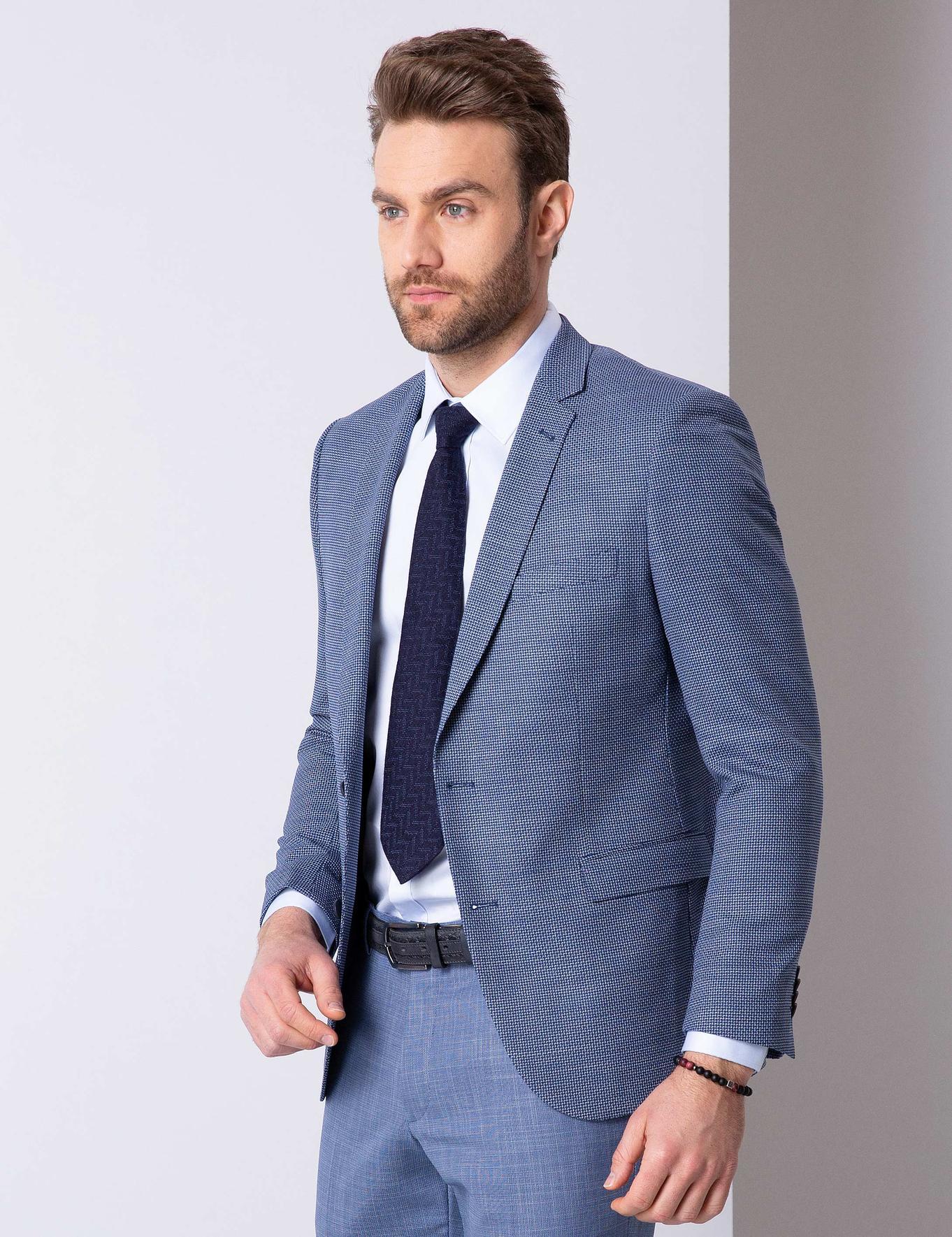 Açık Lacivert Ekstra Slim Fit Ceket