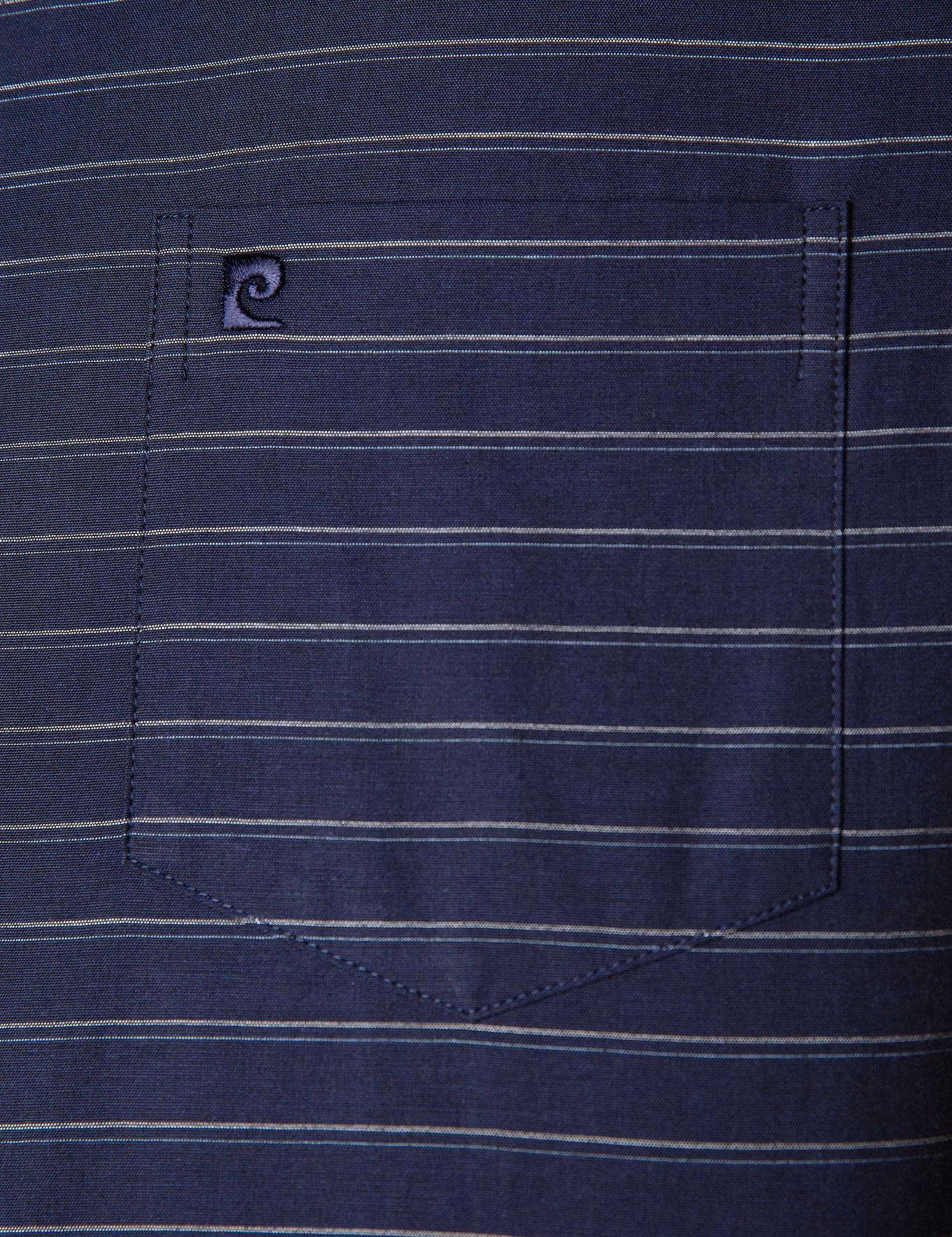 Lacivert Regular Fit Kısa Kollu Gömlek
