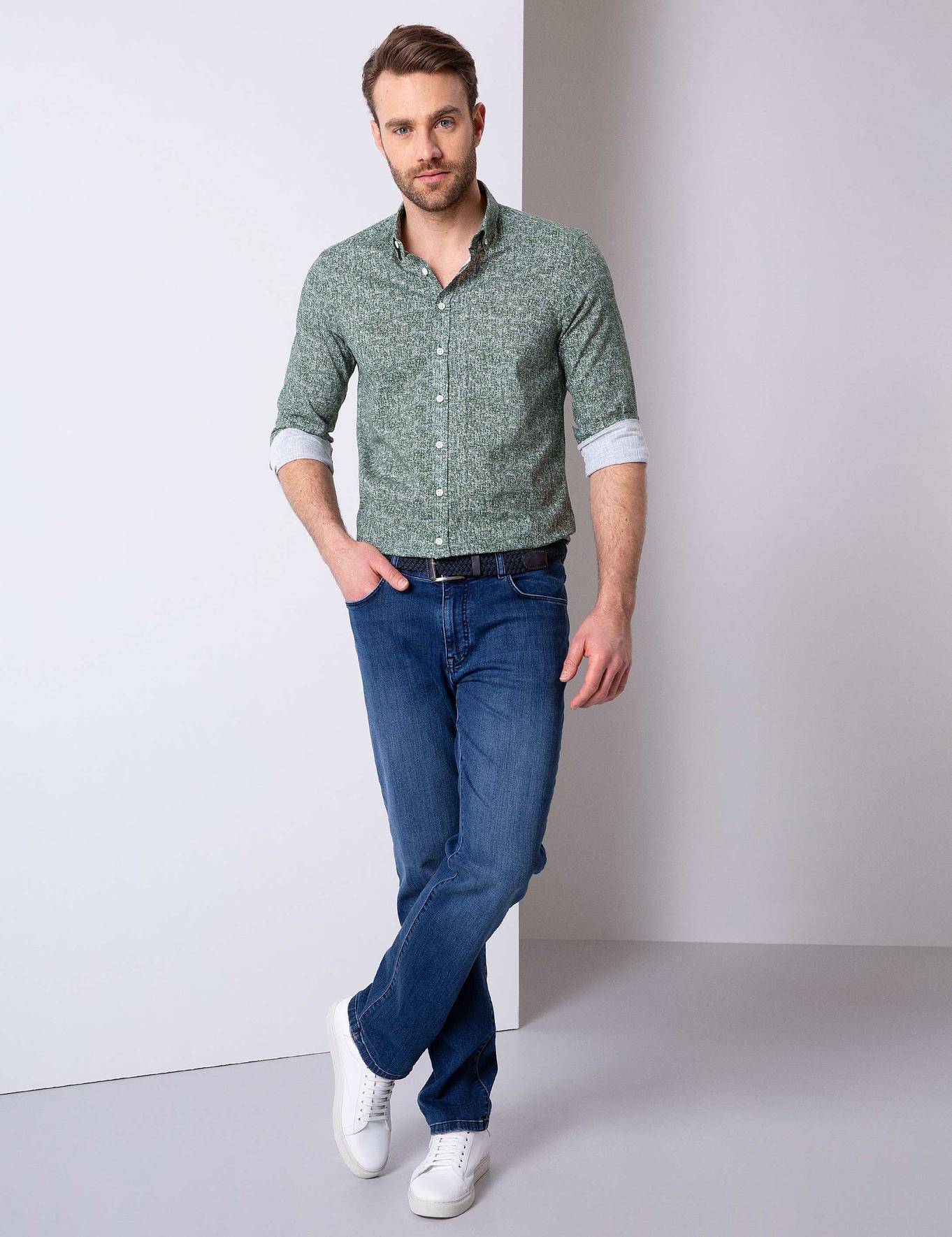 Yeşil Slim Fit Gömlek