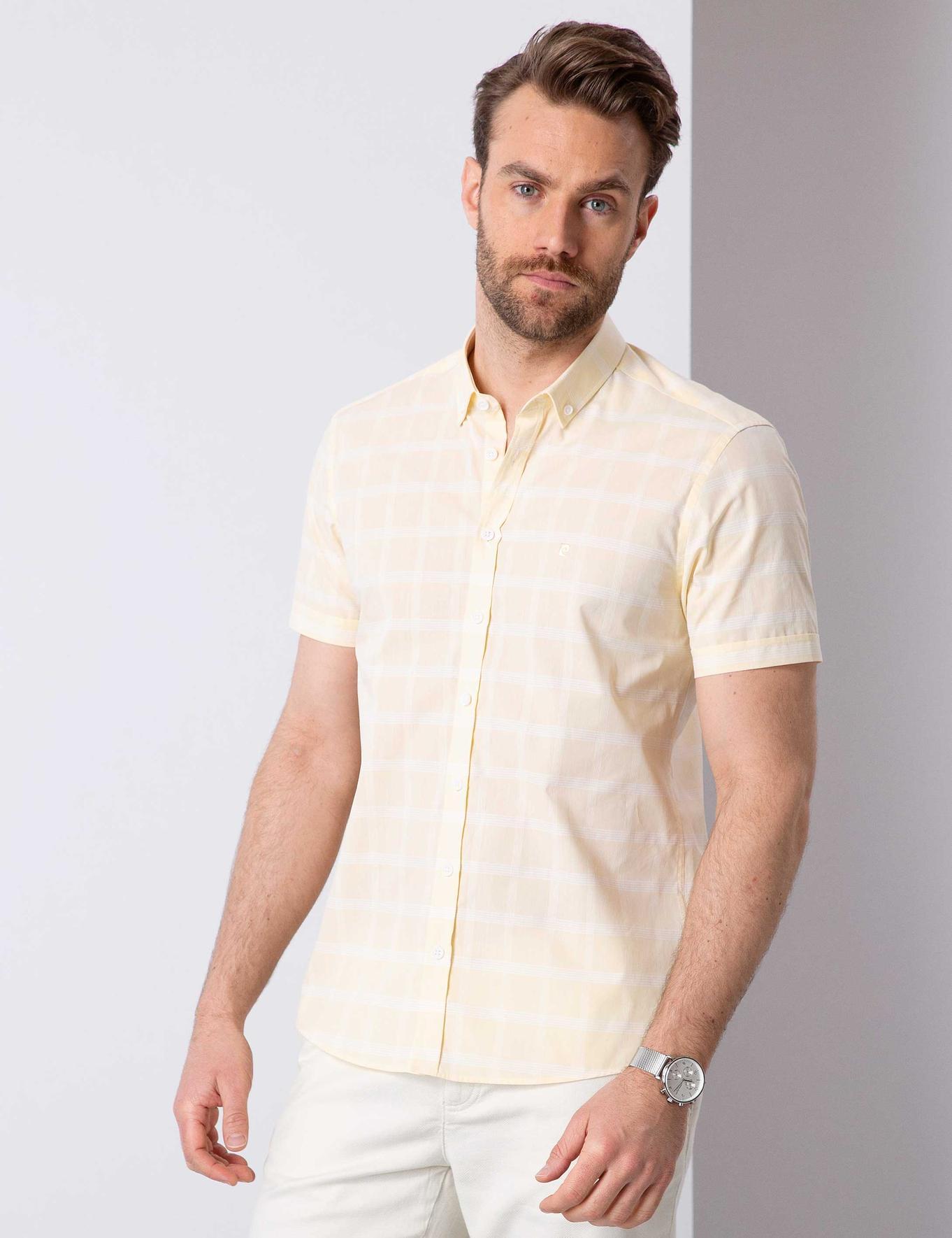 Sarı Slim Fit Gömlek