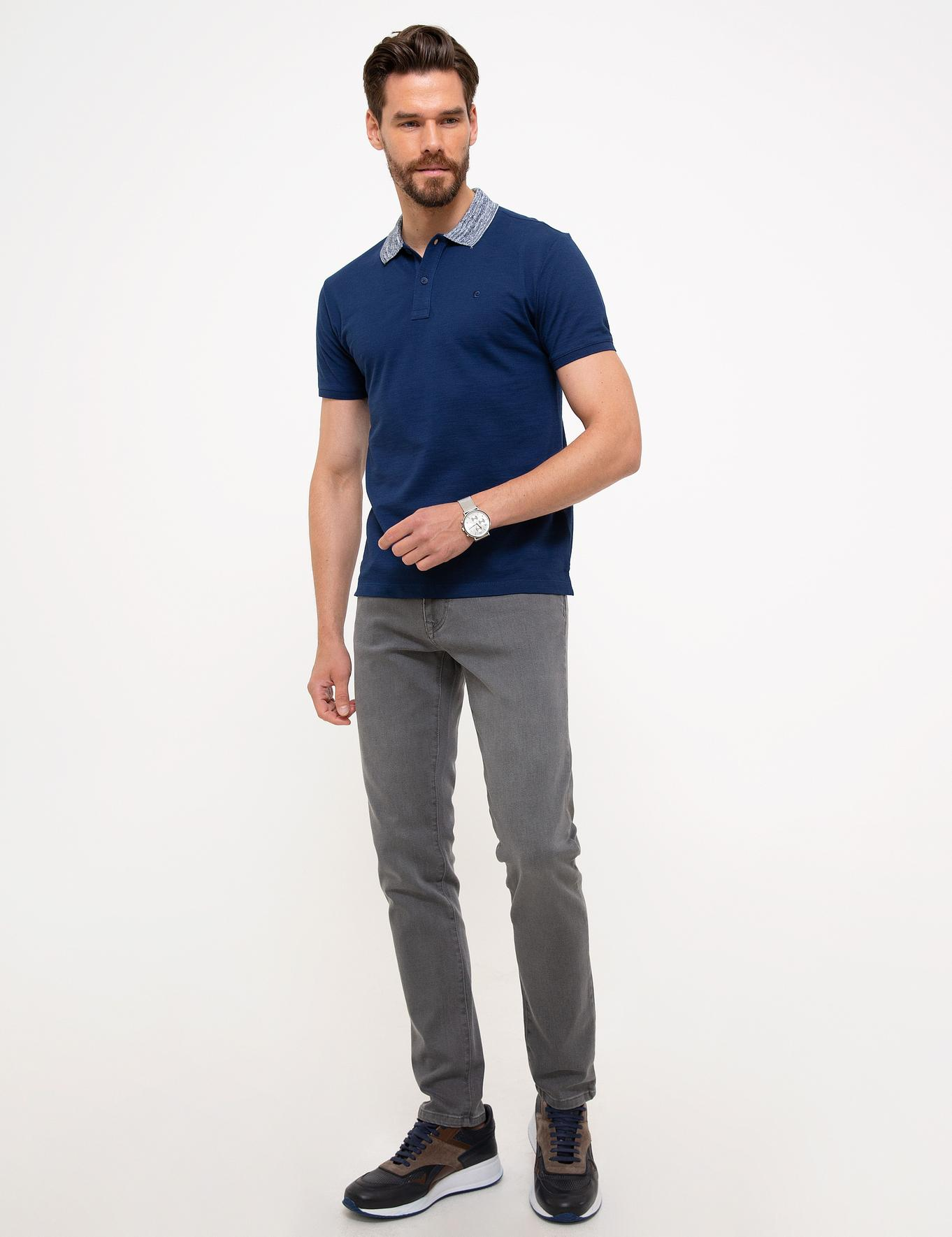 Lacivert Slim Fit T-Shirt