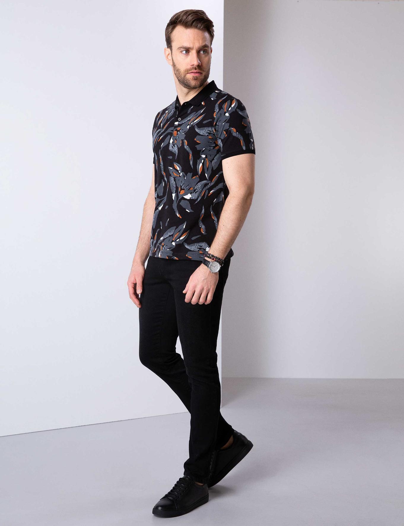 Siyah Real Slim Fit Denim Pantolon