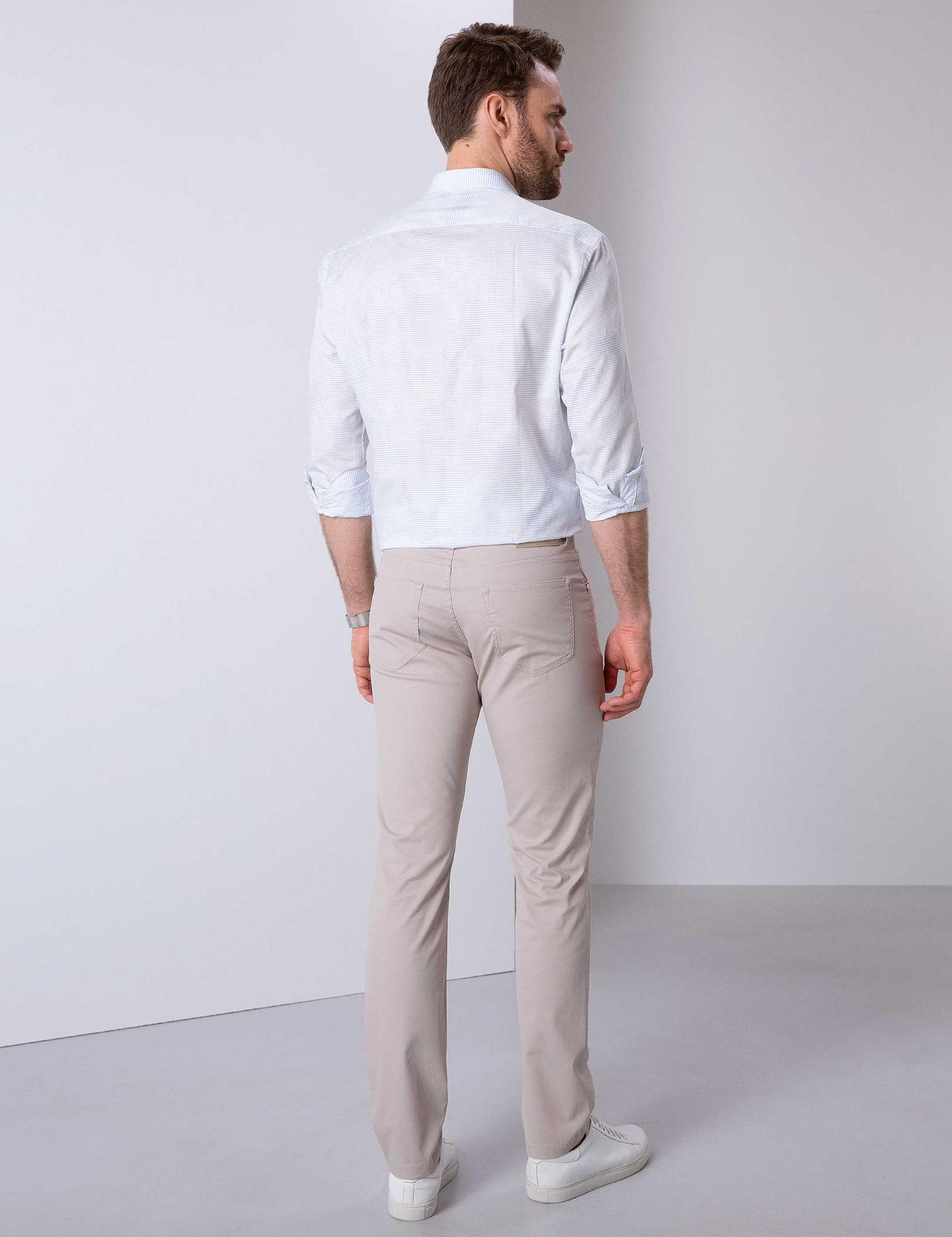 Açık Gri Slim Fit Chino Pantolon