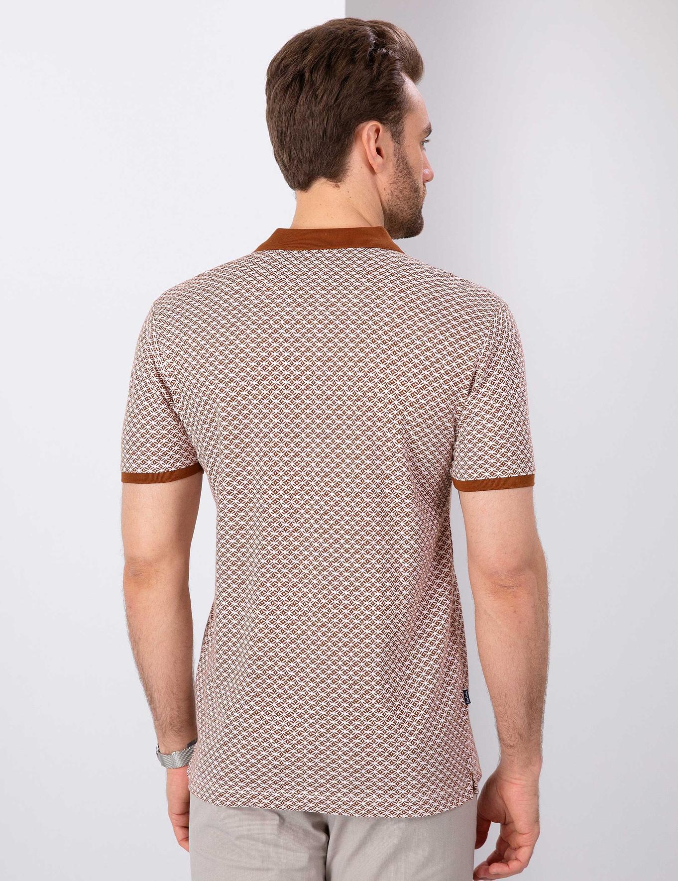 Açık Kahverengi Slim Fit T-Shirt