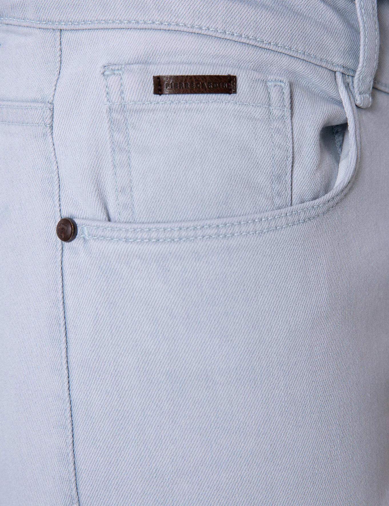 Açık Gri Slim Fit Denim Pantolon