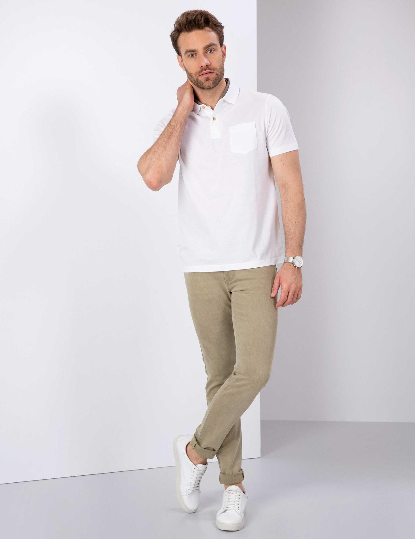 Camel Slim Fit Denim Pantolon