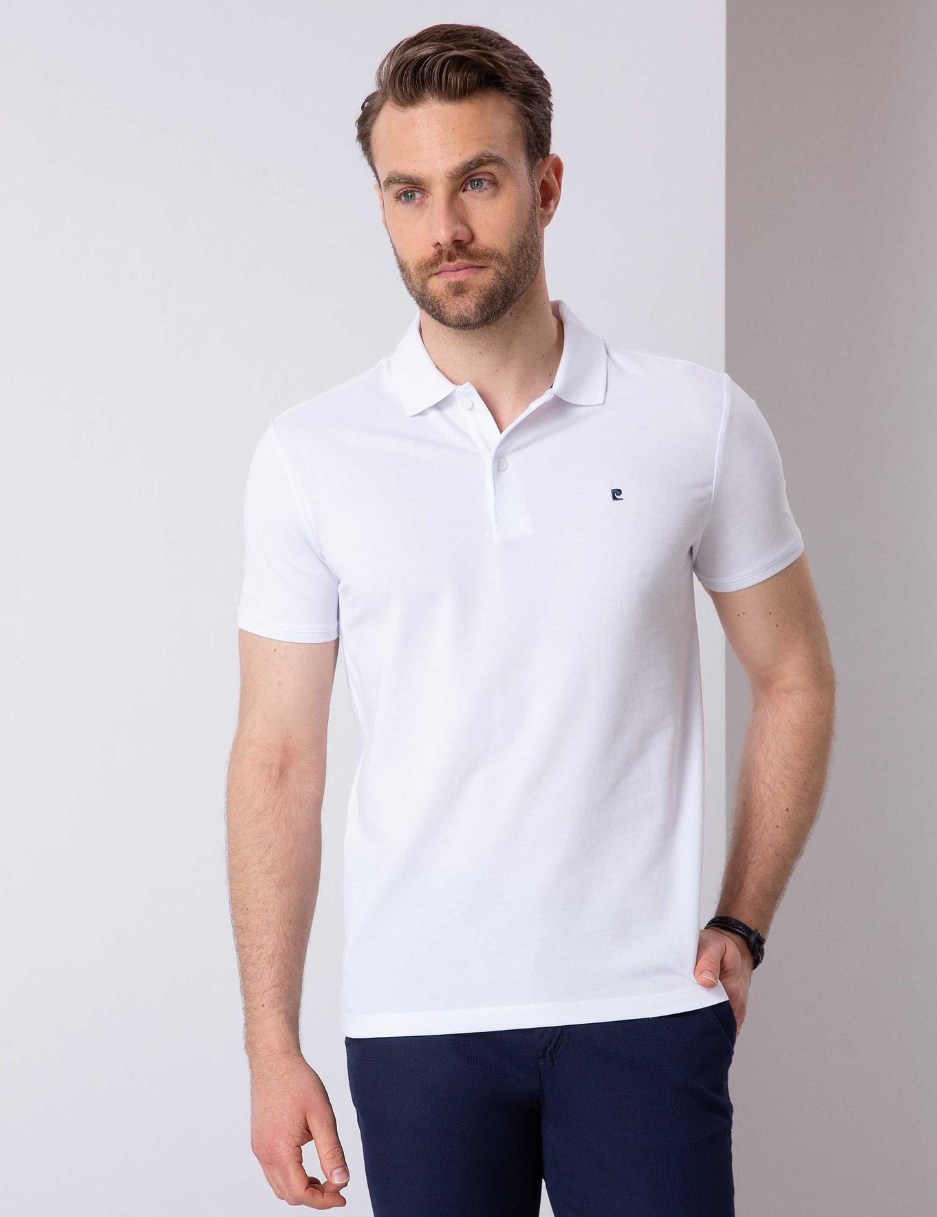 Beyaz Slim Fit T-Shirt