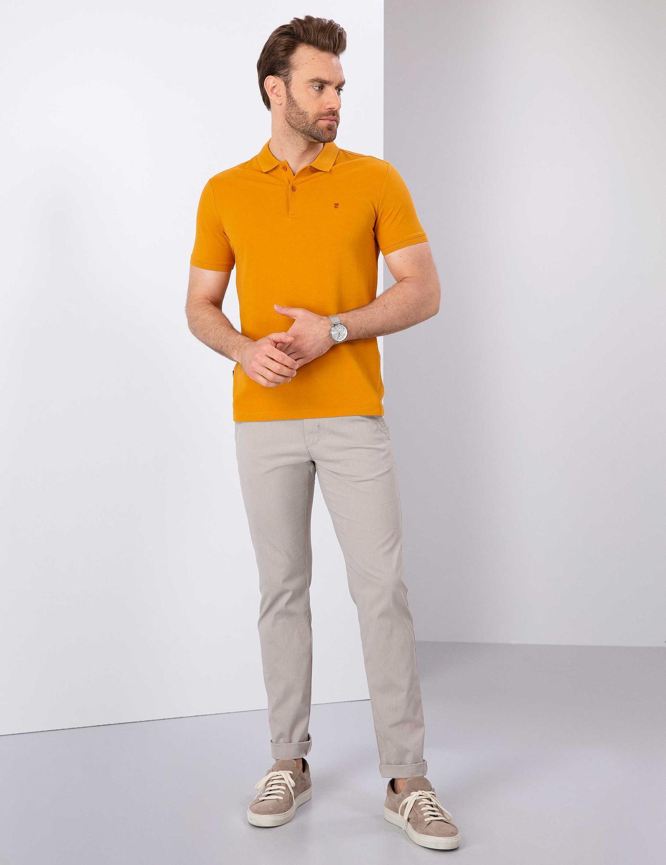 Safran Slim Fit Polo Yaka T-Shirt
