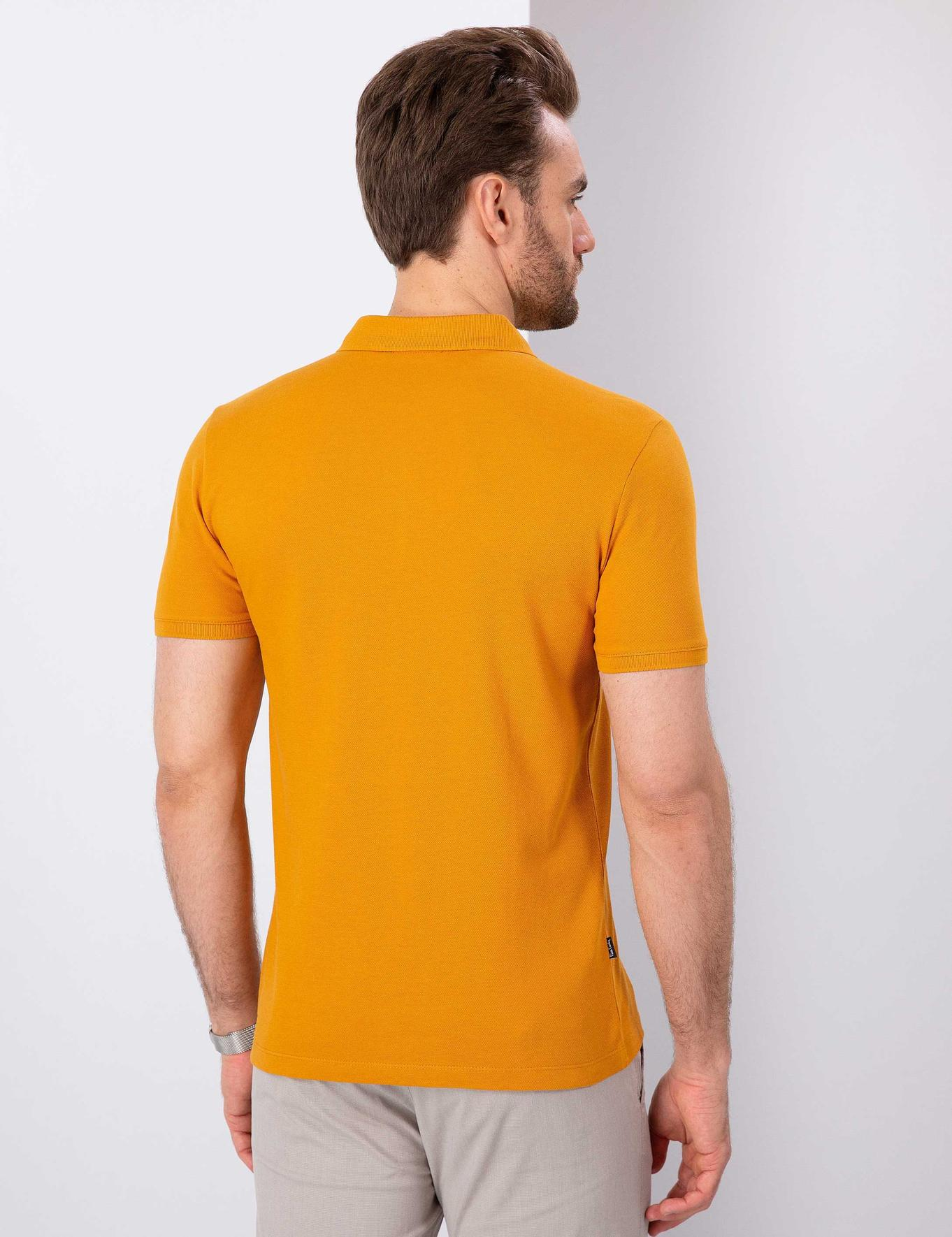 Safran Slim Fit Polo Yaka T-Shirt