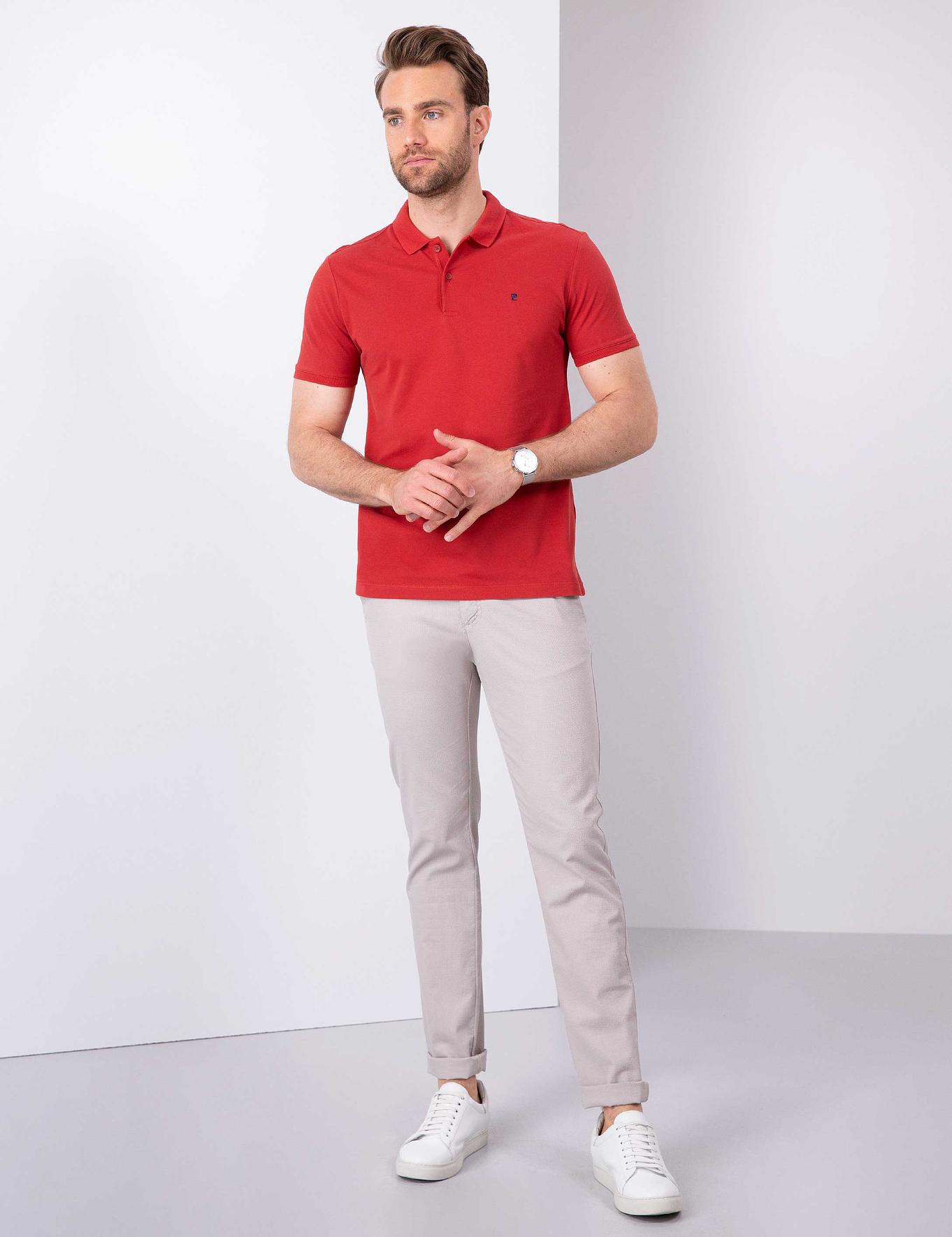 Kiremit Slim Fit Polo Yaka T-Shirt
