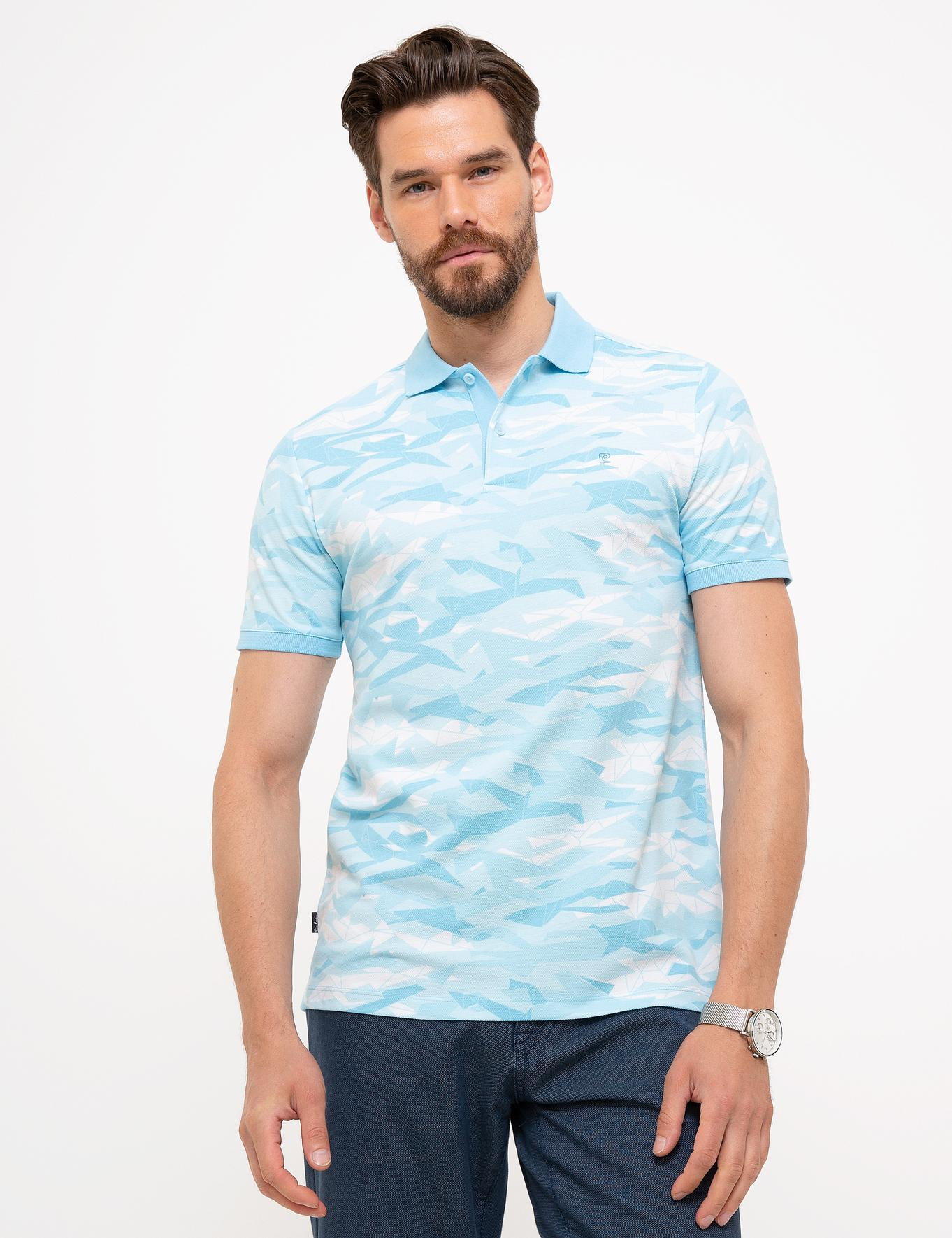 Açık Mavi Slim Fit Polo Yaka T-Shirt