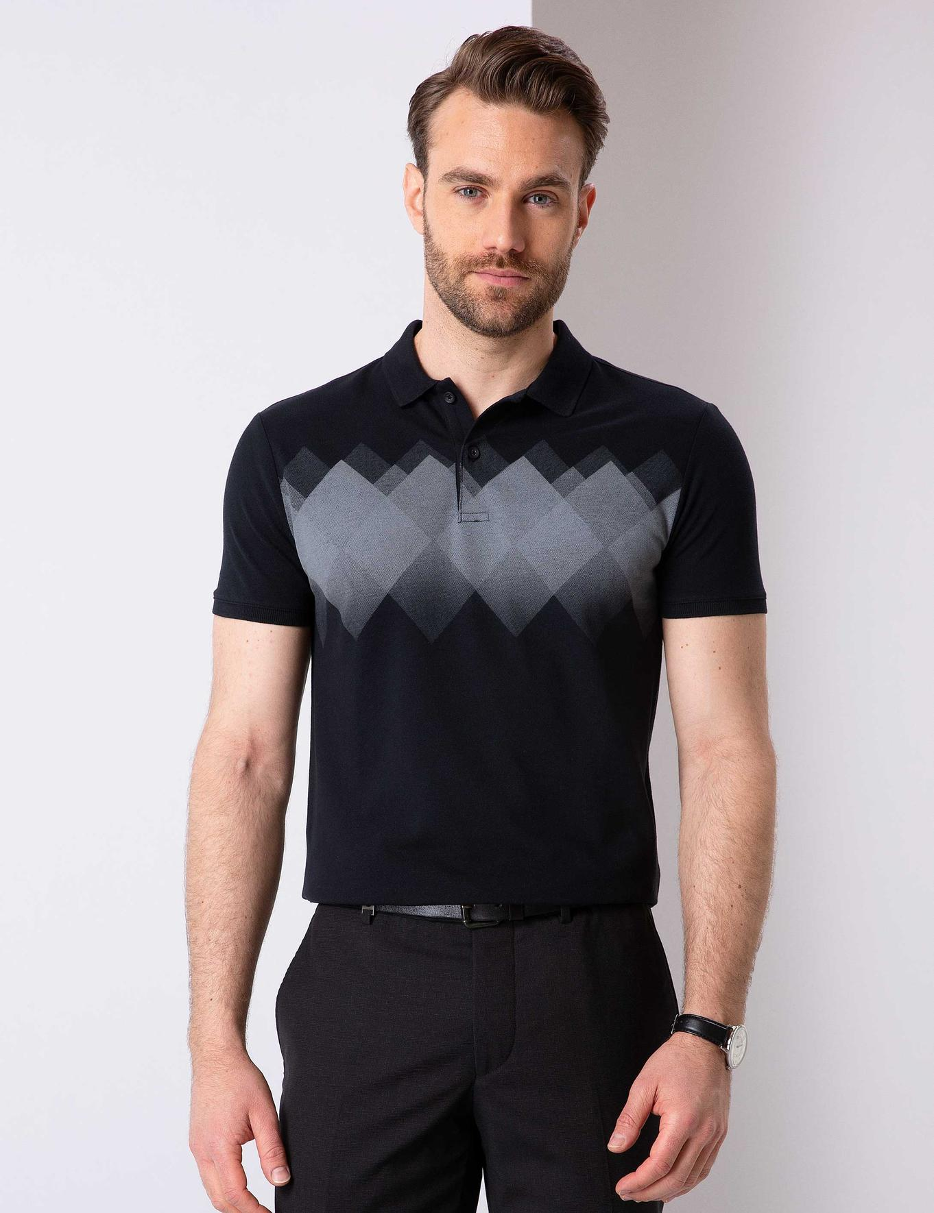 Siyah Slim Fit T-Shirt