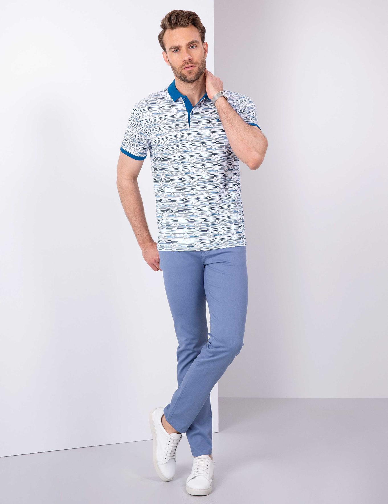 Saks Mavi Slim Fit T-Shirt
