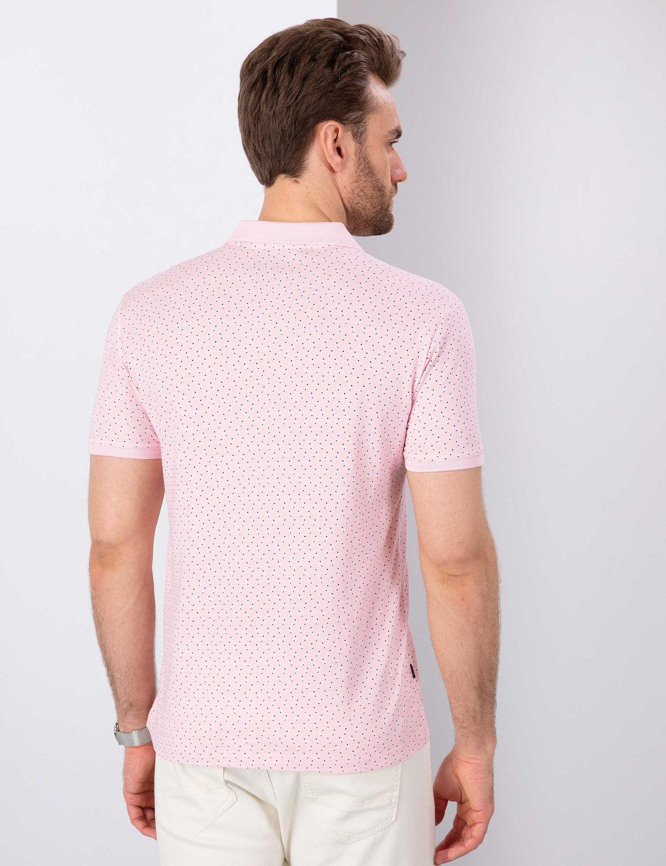 Pembe Slim Fit Polo Yaka T-Shirt