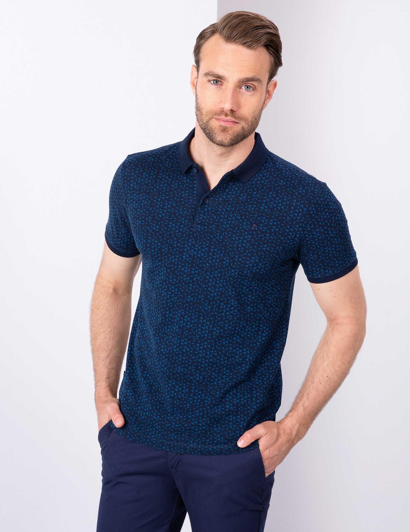 Lacivert Slim Fit T-Shirt