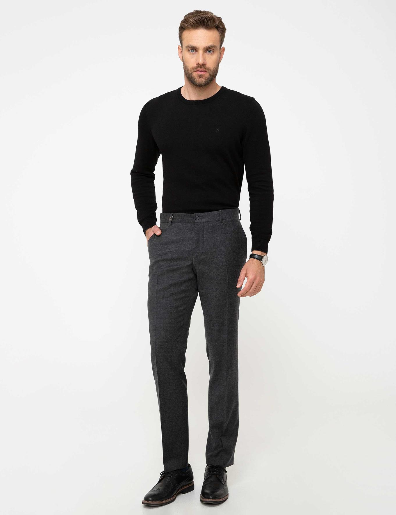 Antrasit Slim Fit Pantolon
