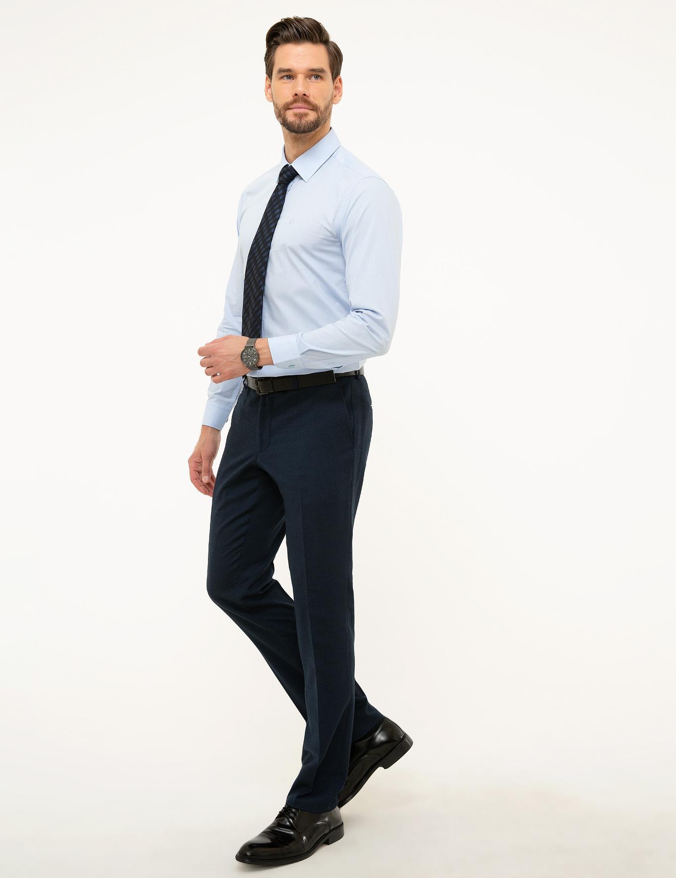 Lacivert Slim Fit Pantolon