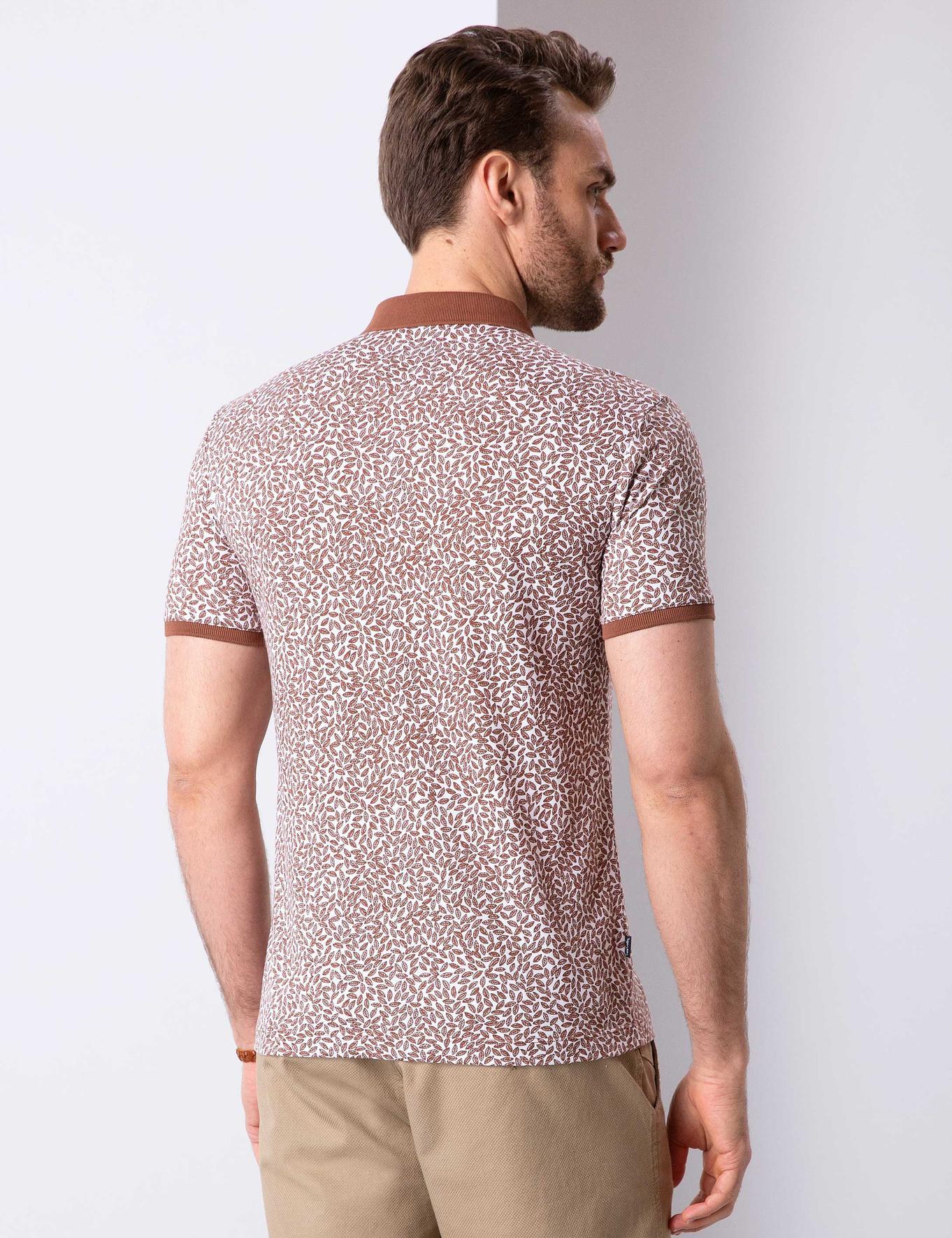 Açık Kahverengi Slim Fit Polo Yaka T-Shirt