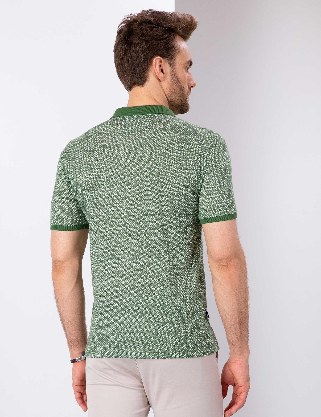 Yeşil Slim Fit Polo Yaka T-Shirt