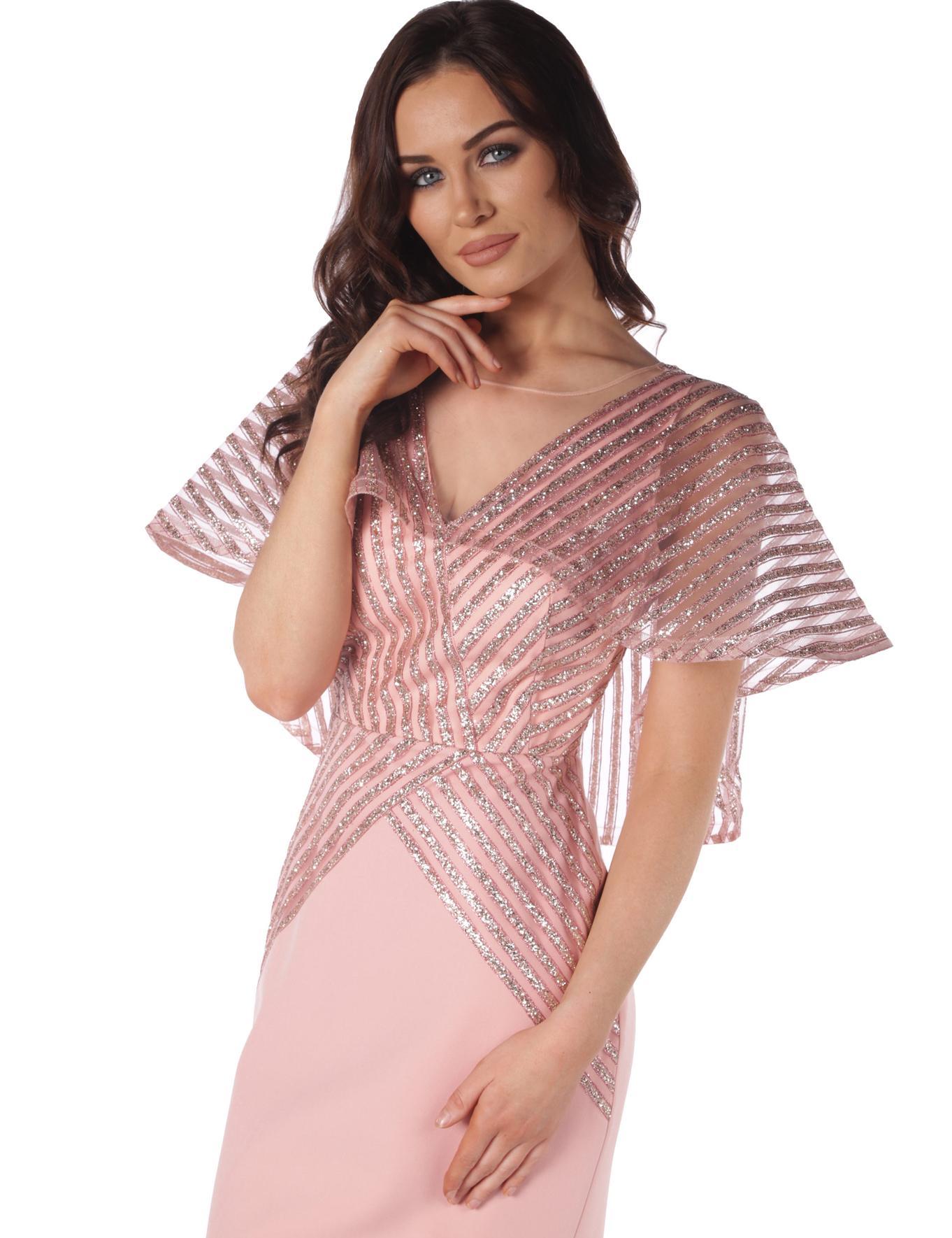 PEMBE Balık Abiye Elbise