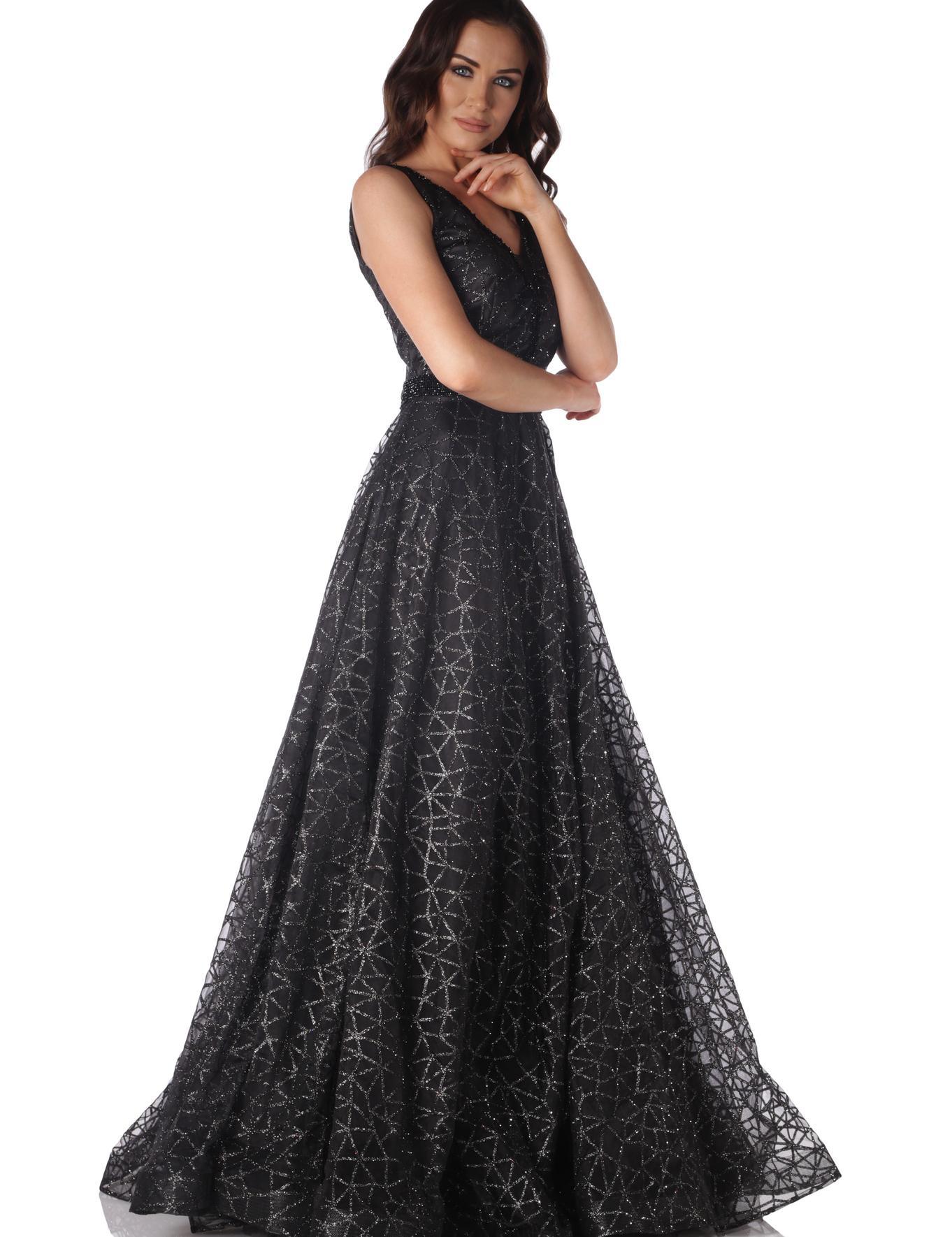 SIYAH Prenses Abiye Elbise