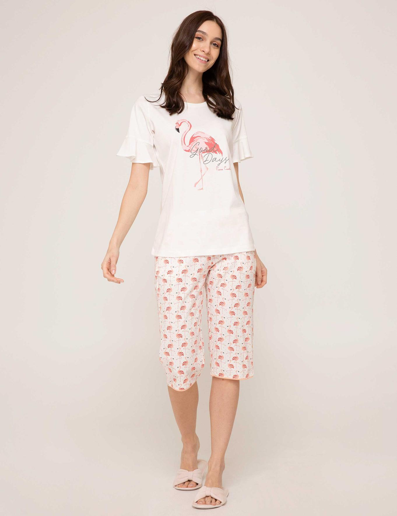 Beyaz Capri Pijama Takımı