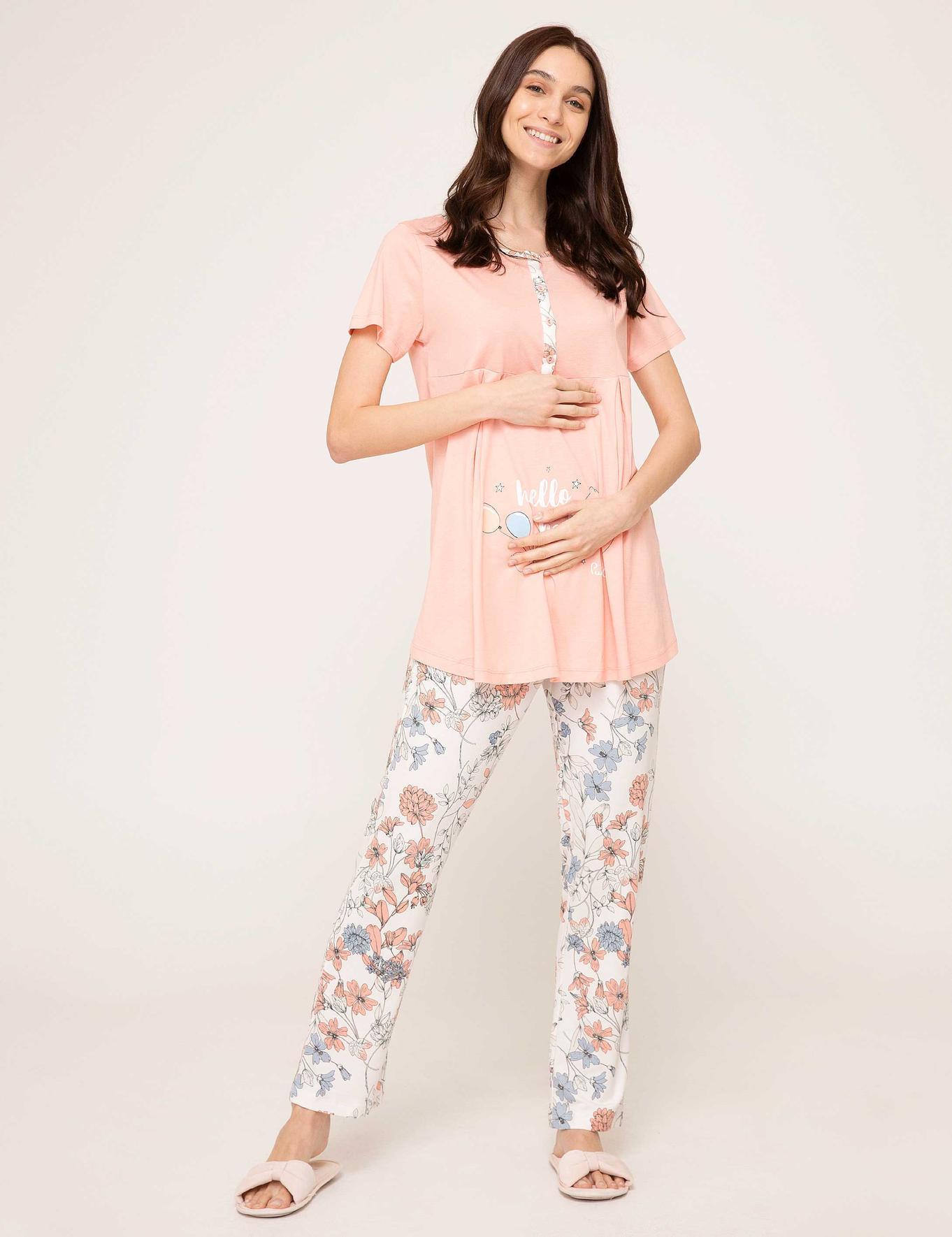 Turuncu Lohusa Pijama Takımı