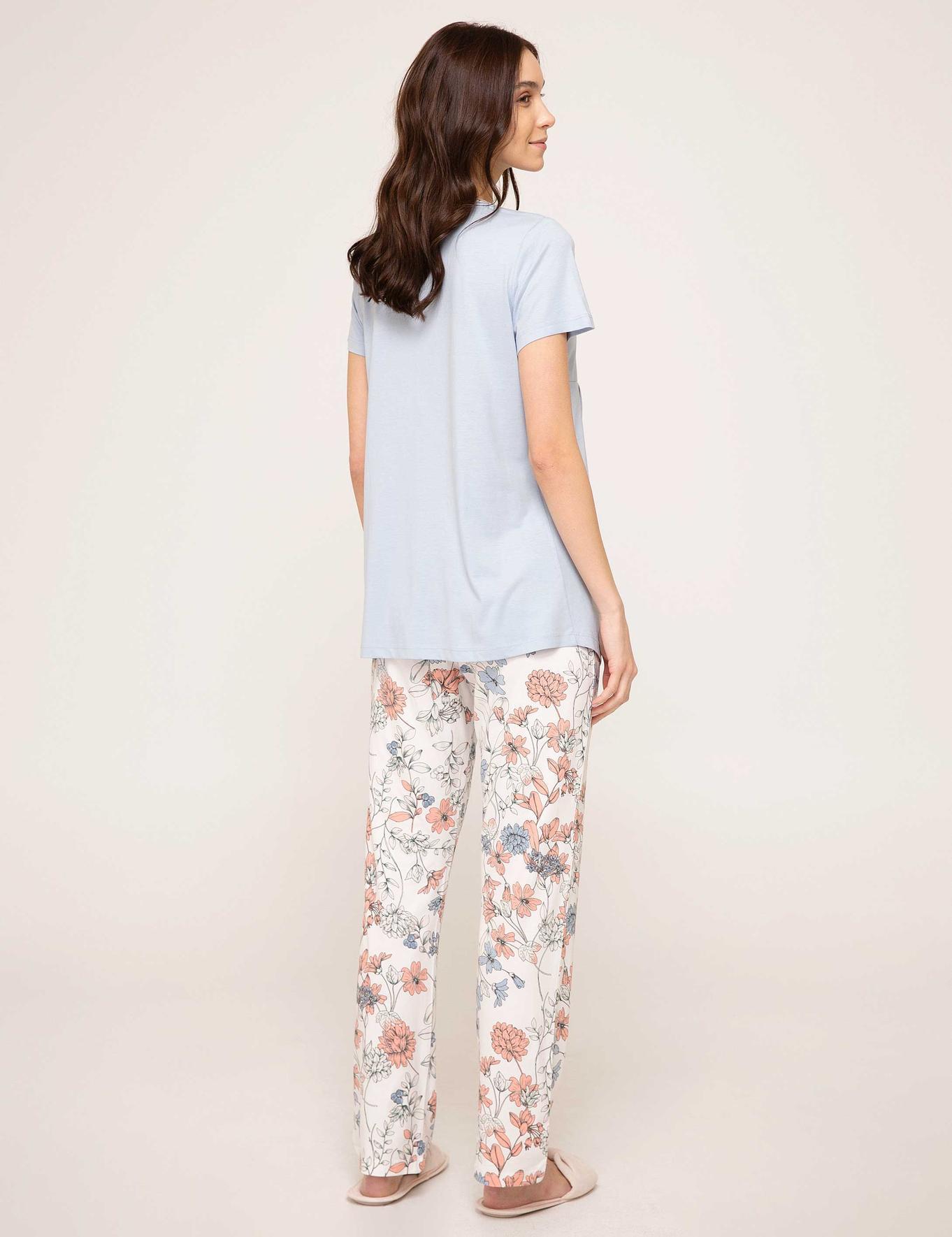 Mavi Lohusa Pijama Takımı