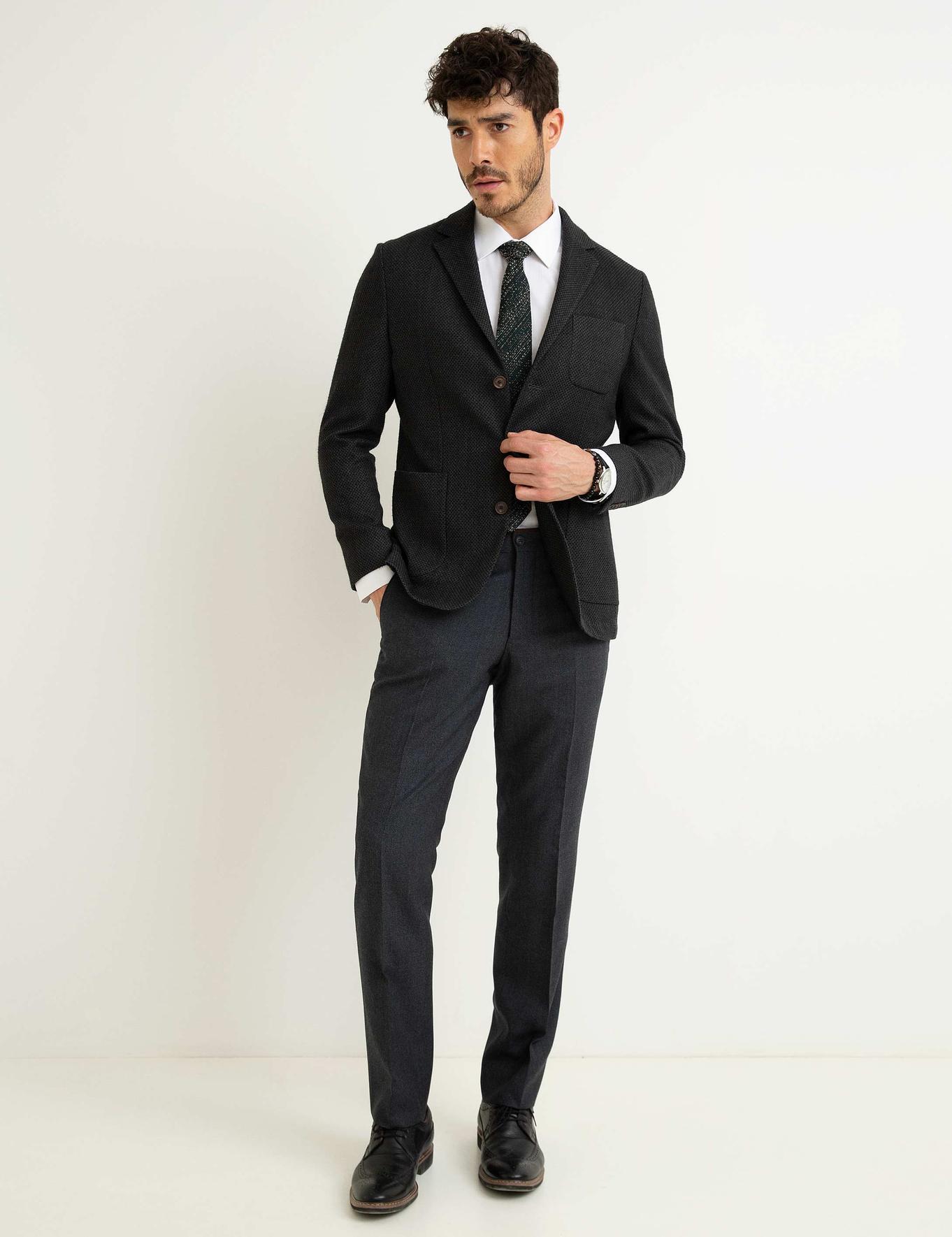 Gri Slim Klasik Pantolon