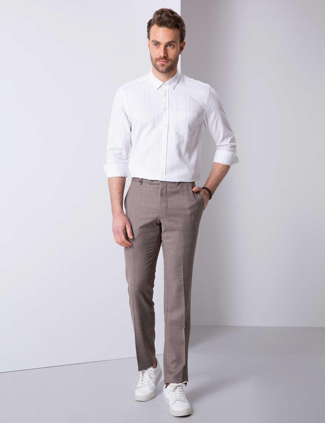 Camel Slim Fit Pantolon