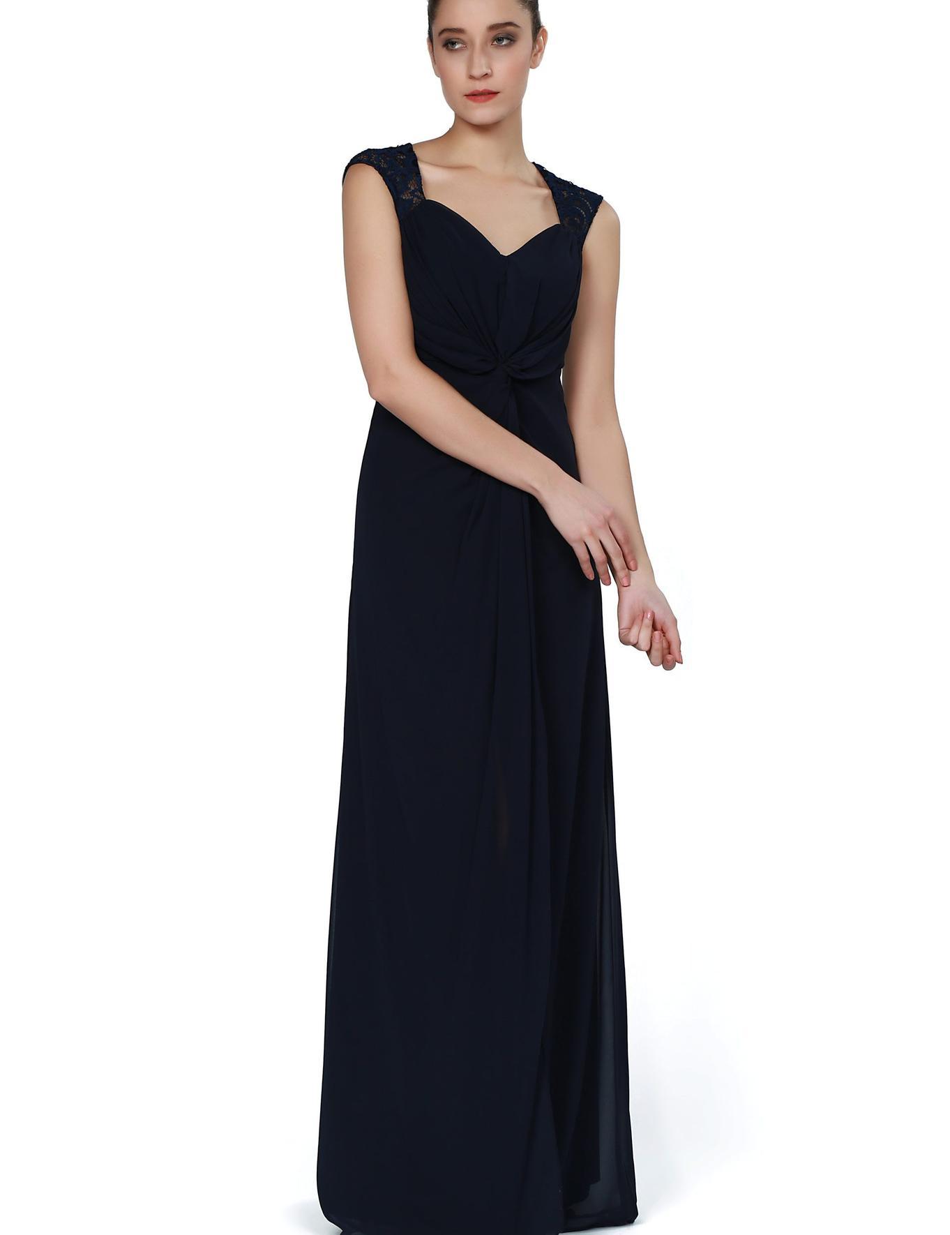 LACIVERT Uzun Abiye Elbise
