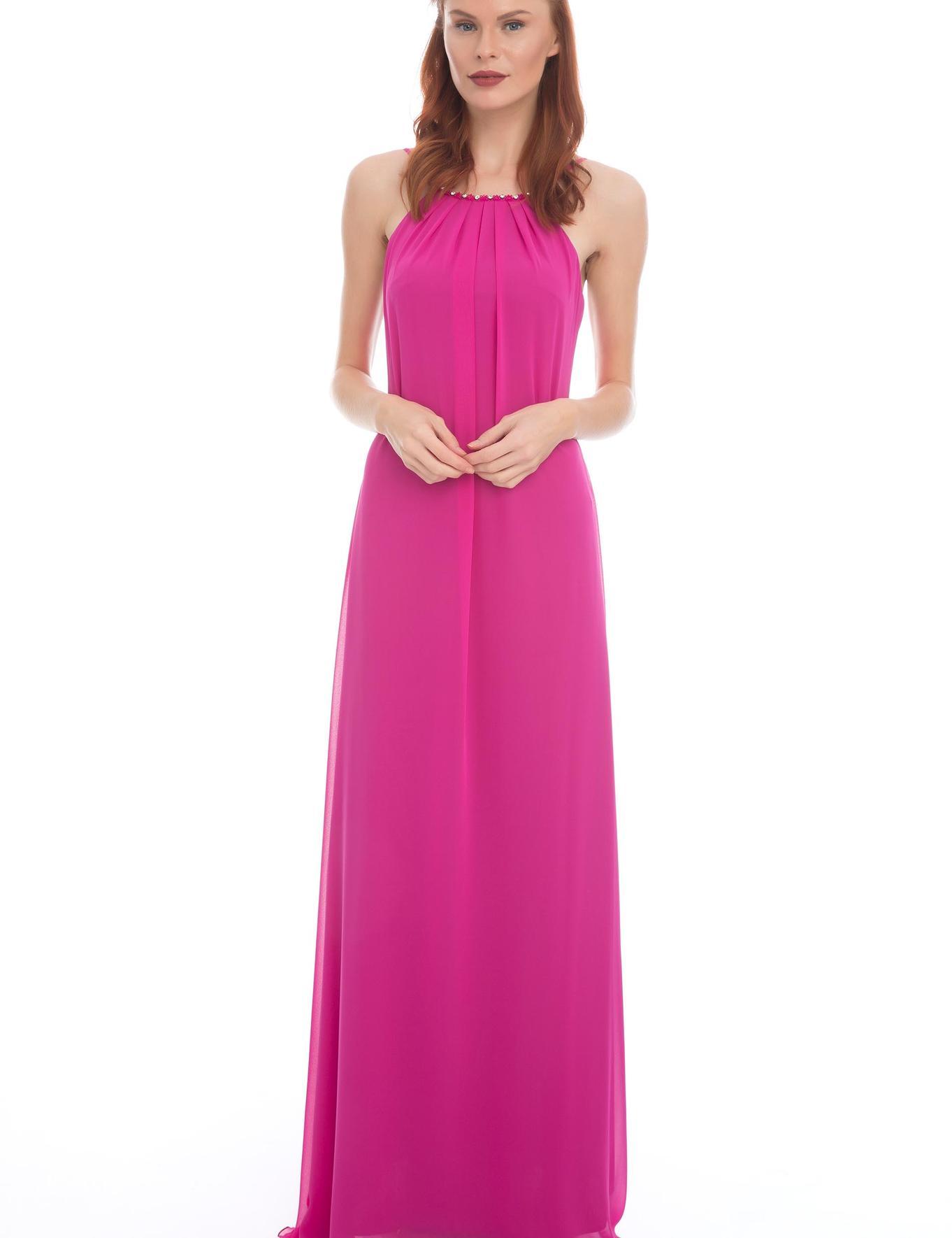 PEMBE Uzun Abiye Elbise