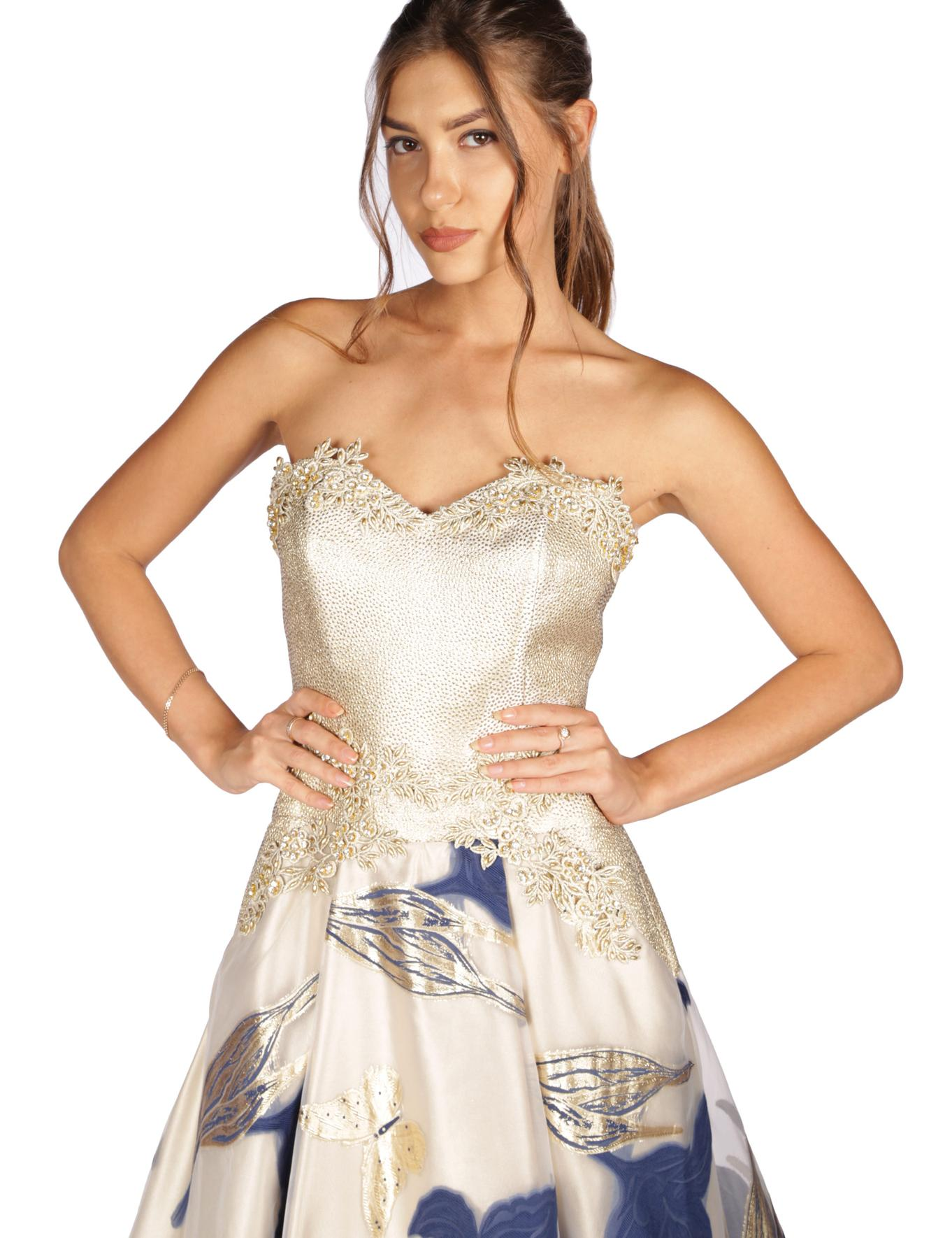 LACIVERT Prenses Abiye Elbise