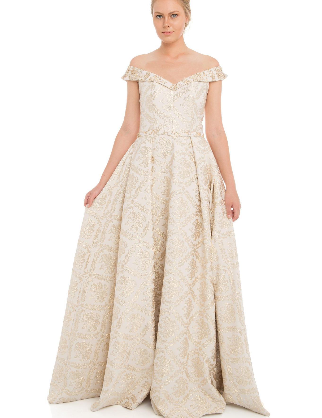 BEYAZ Uzun Abiye Elbise