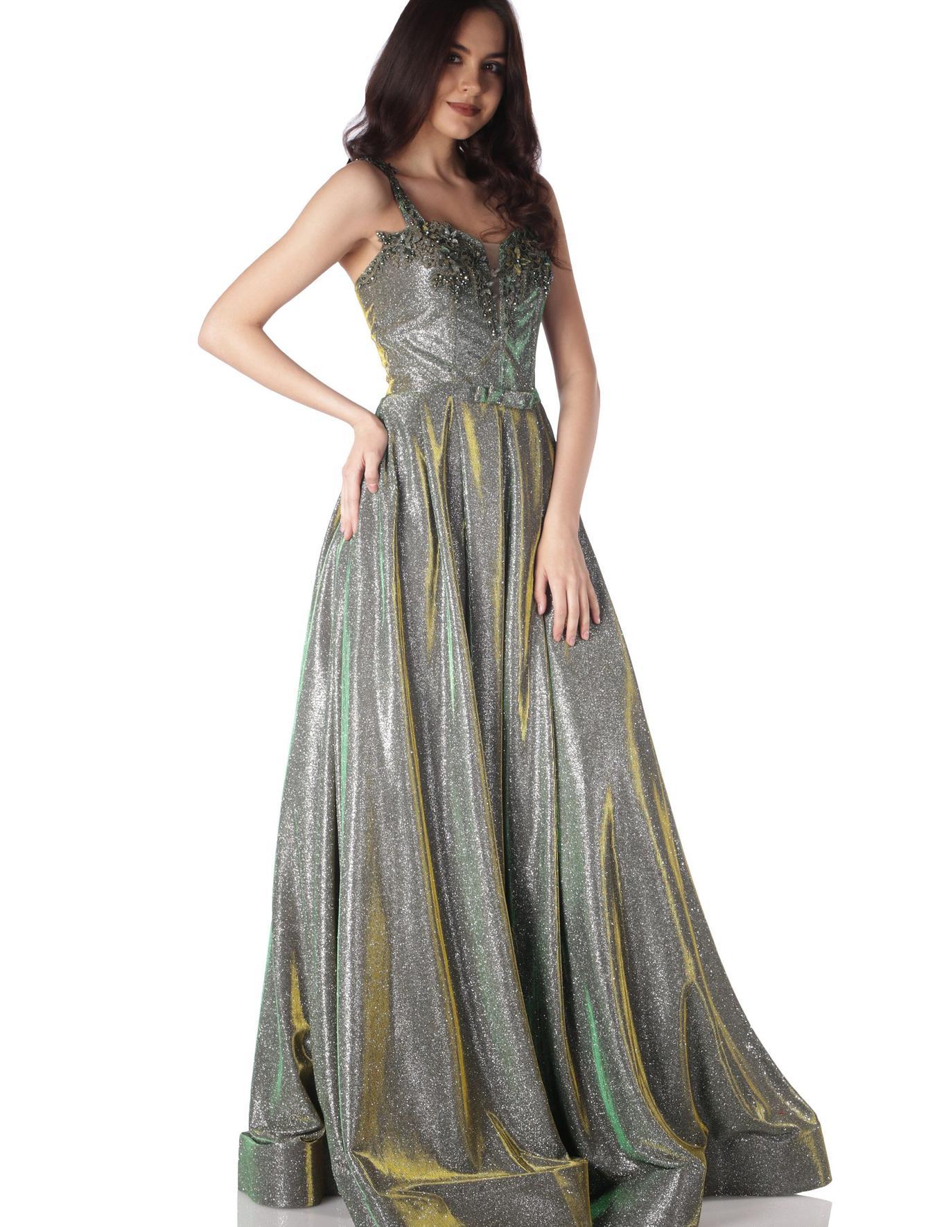 YESIL Prenses Abiye Elbise