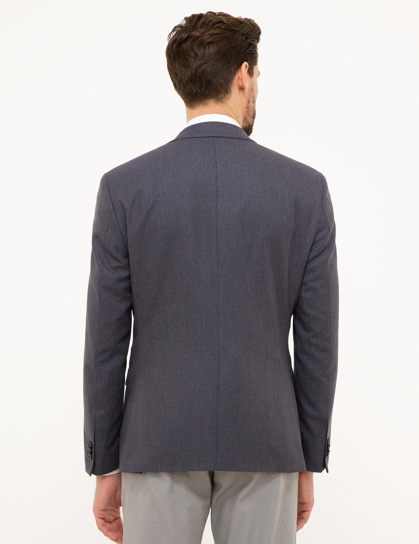 Gri Slim Fit Ceket