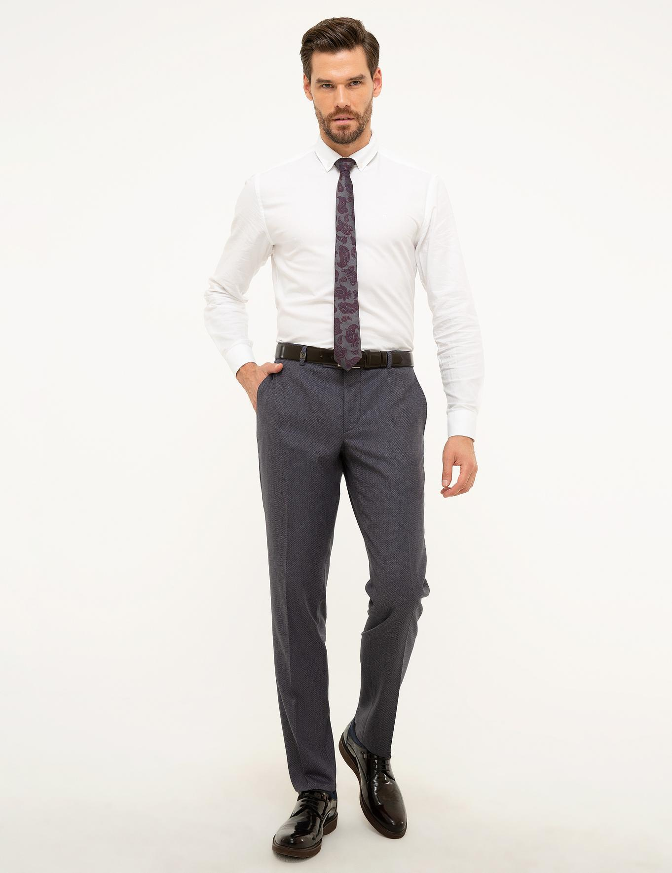 Gri Slim Fit Pantolon