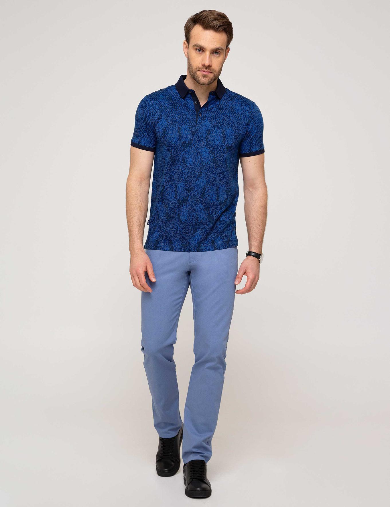 Koyu Mavi Slim Fit Chino Pantolon