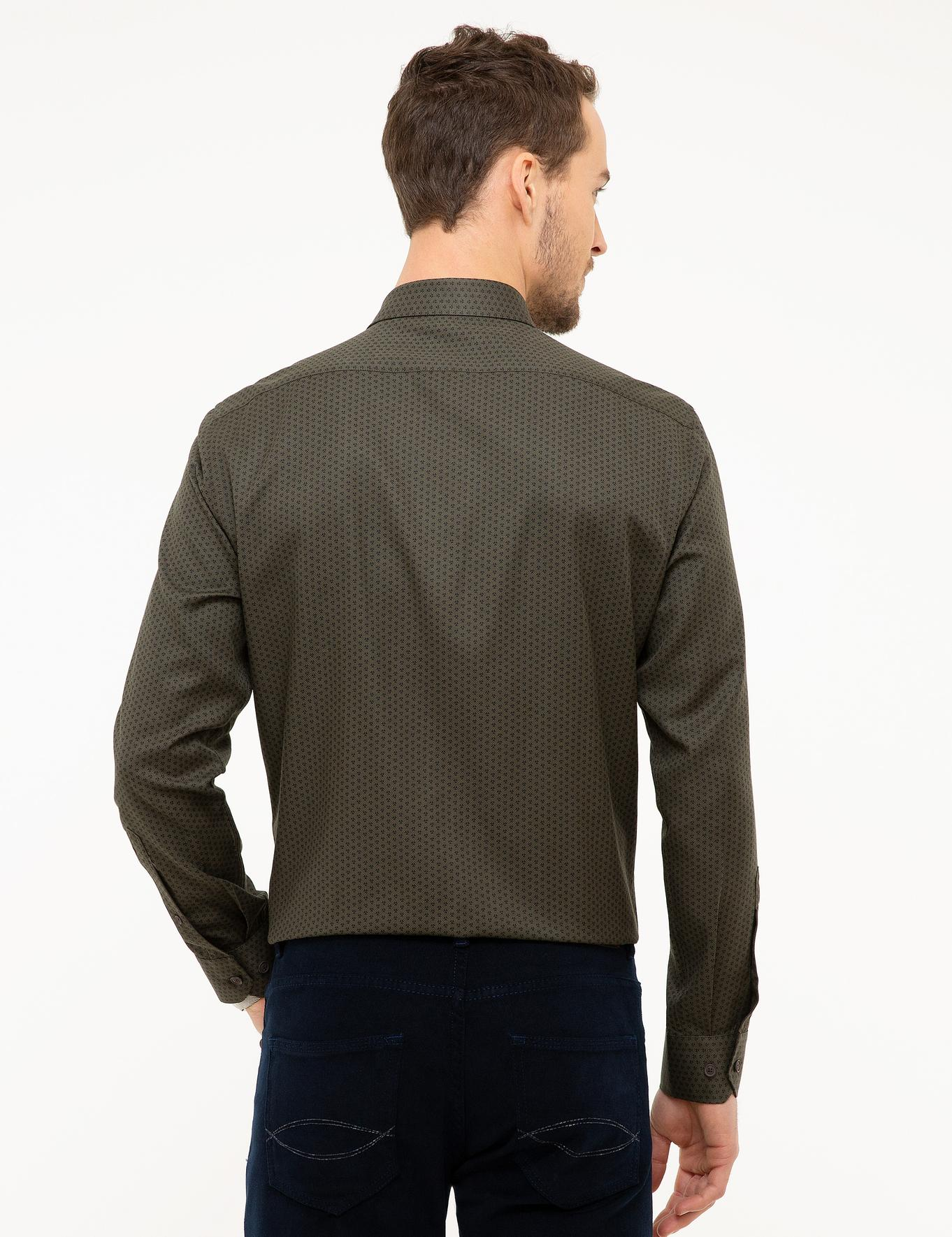 Koyu Yeşil Slim Fit Gömlek