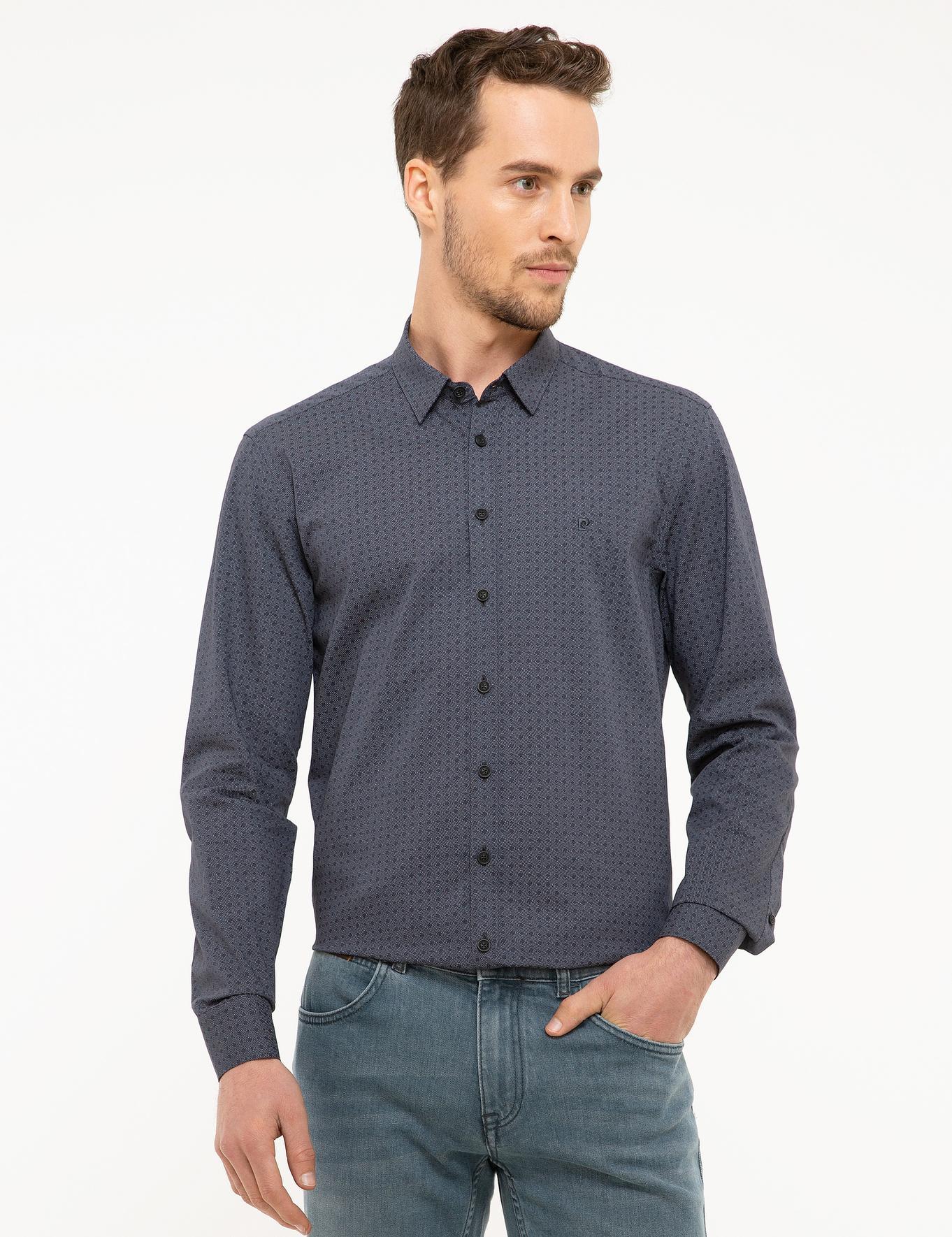 Antrasit Gri Slim Fit Gömlek