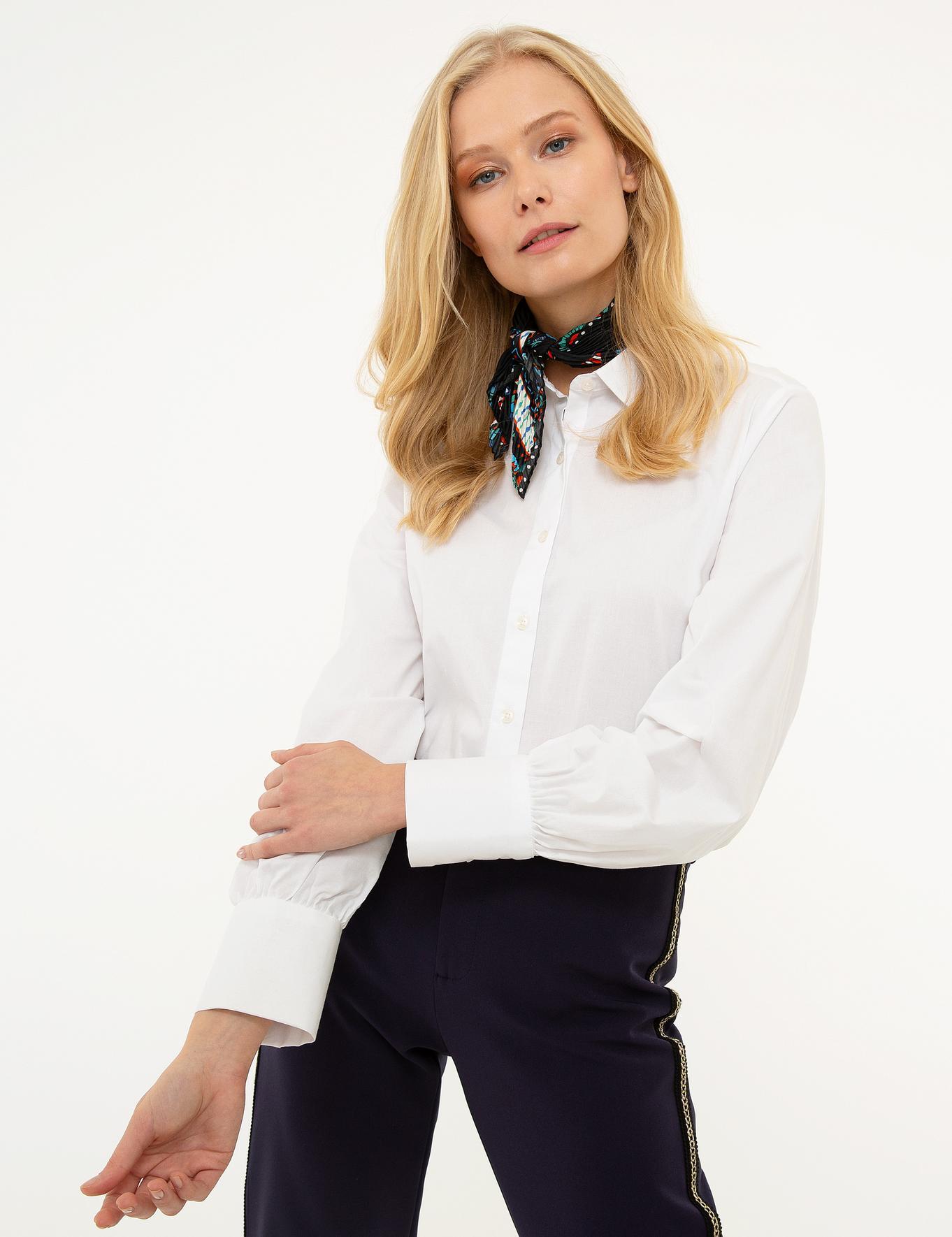 Beyaz Dokuma Gömlek