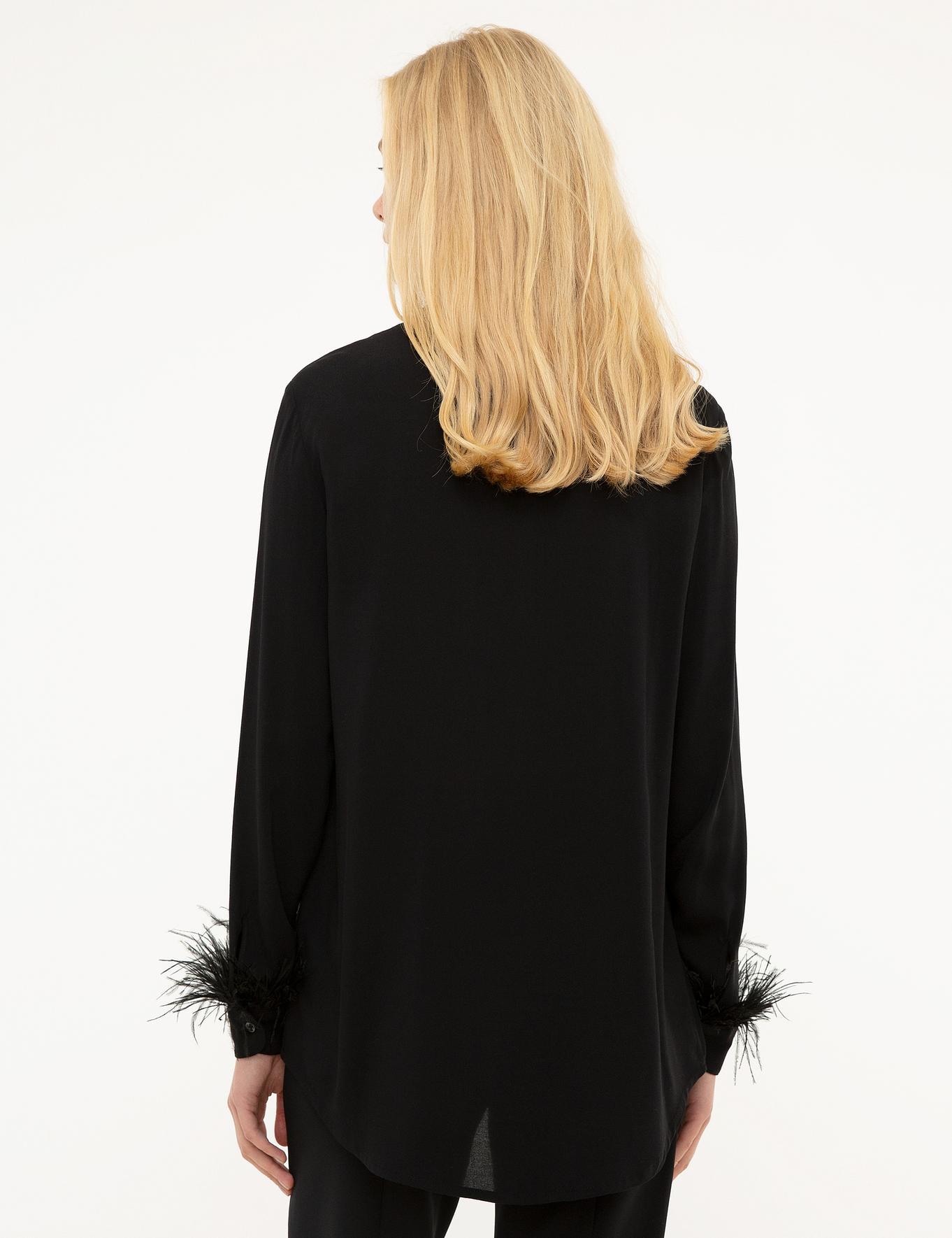 Siyah Dokuma Gömlek