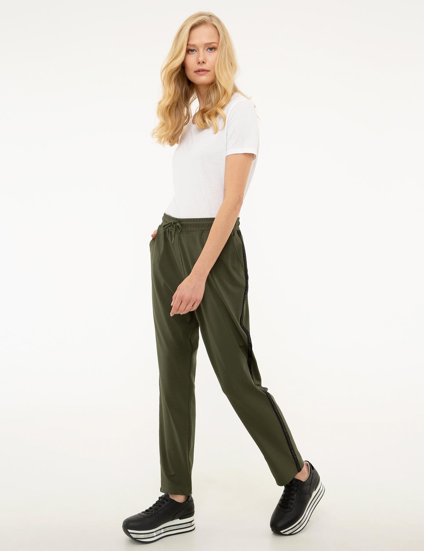 Haki Örme Pantolon
