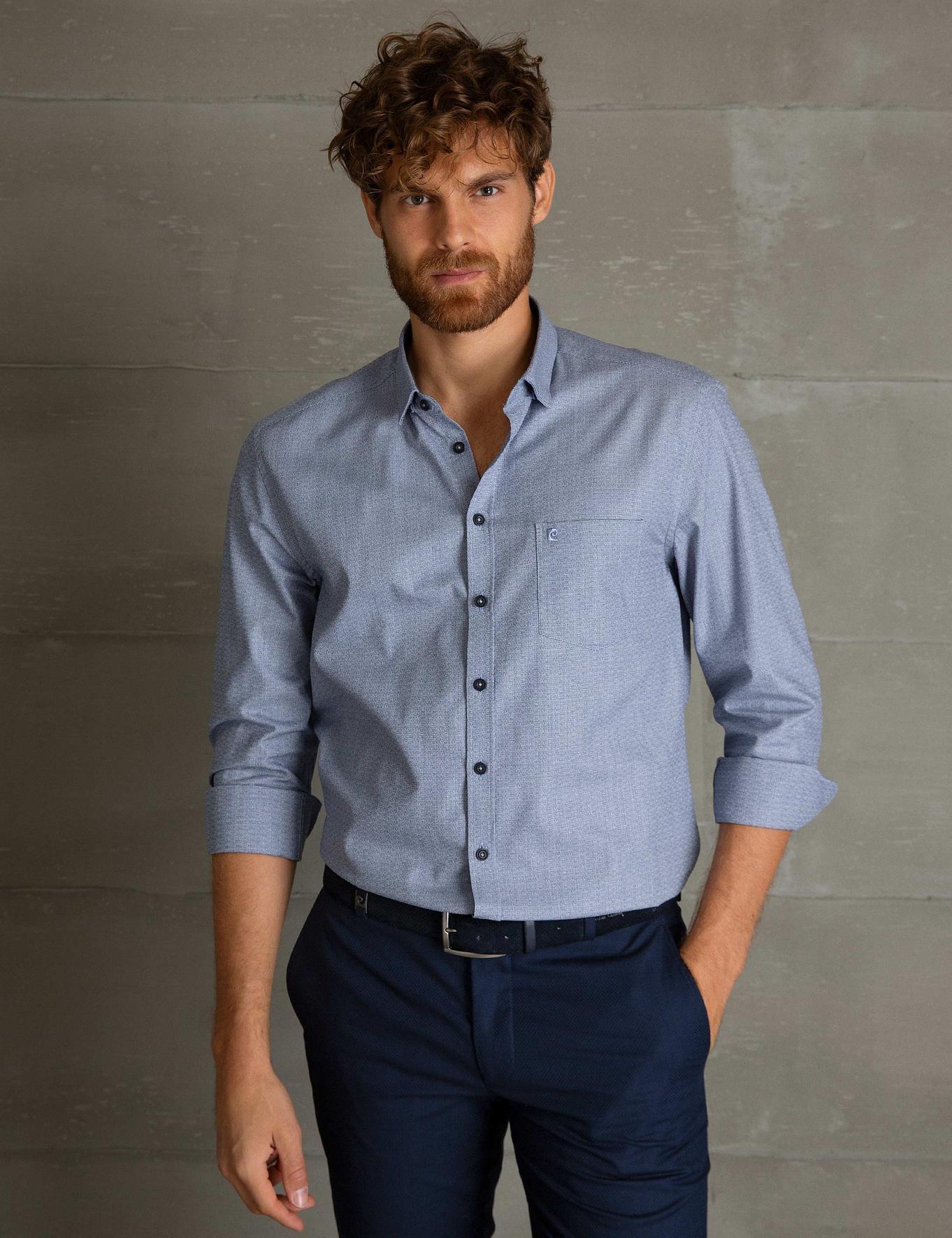 Açık Lacivert Regular Fit Gömlek