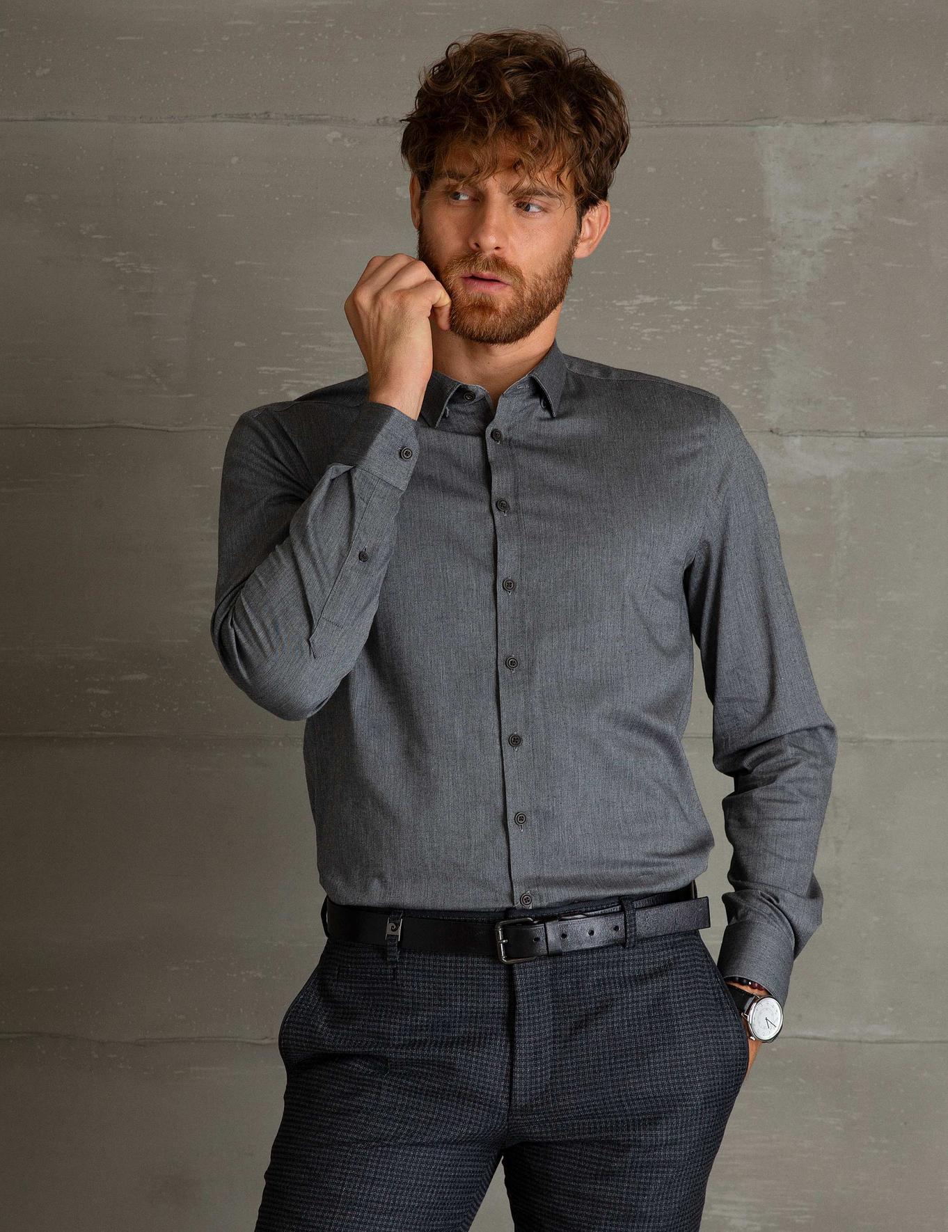 Slim Füme Gömlek