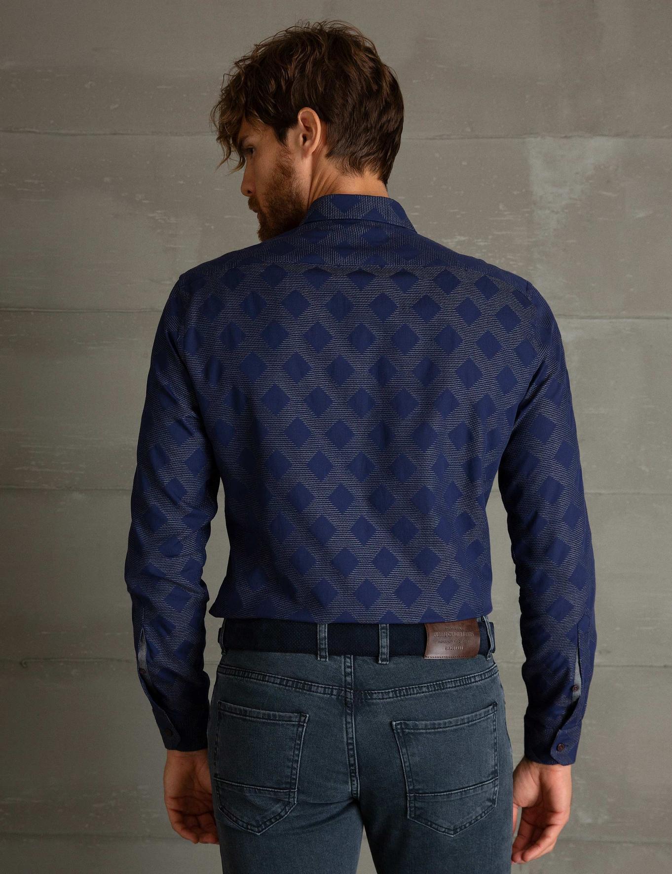 Gri Detaylı Slim Fit Gömlek