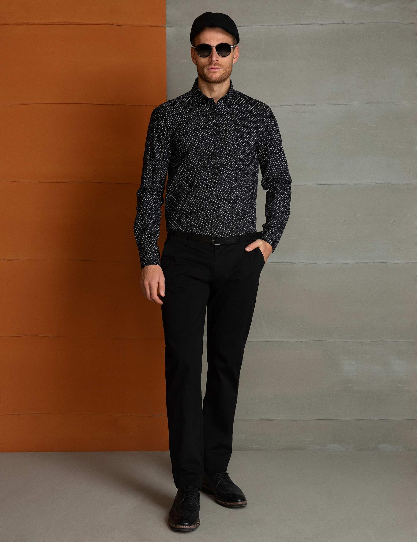 Siyah Slim Fit Gömlek